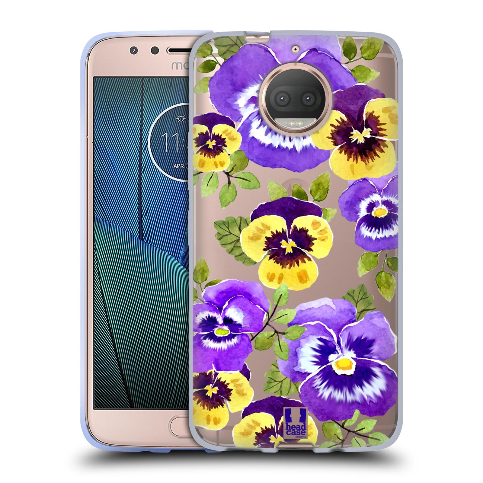 HEAD CASE silikonový obal na mobil Lenovo Moto G5s PLUS Maceška fialová barva