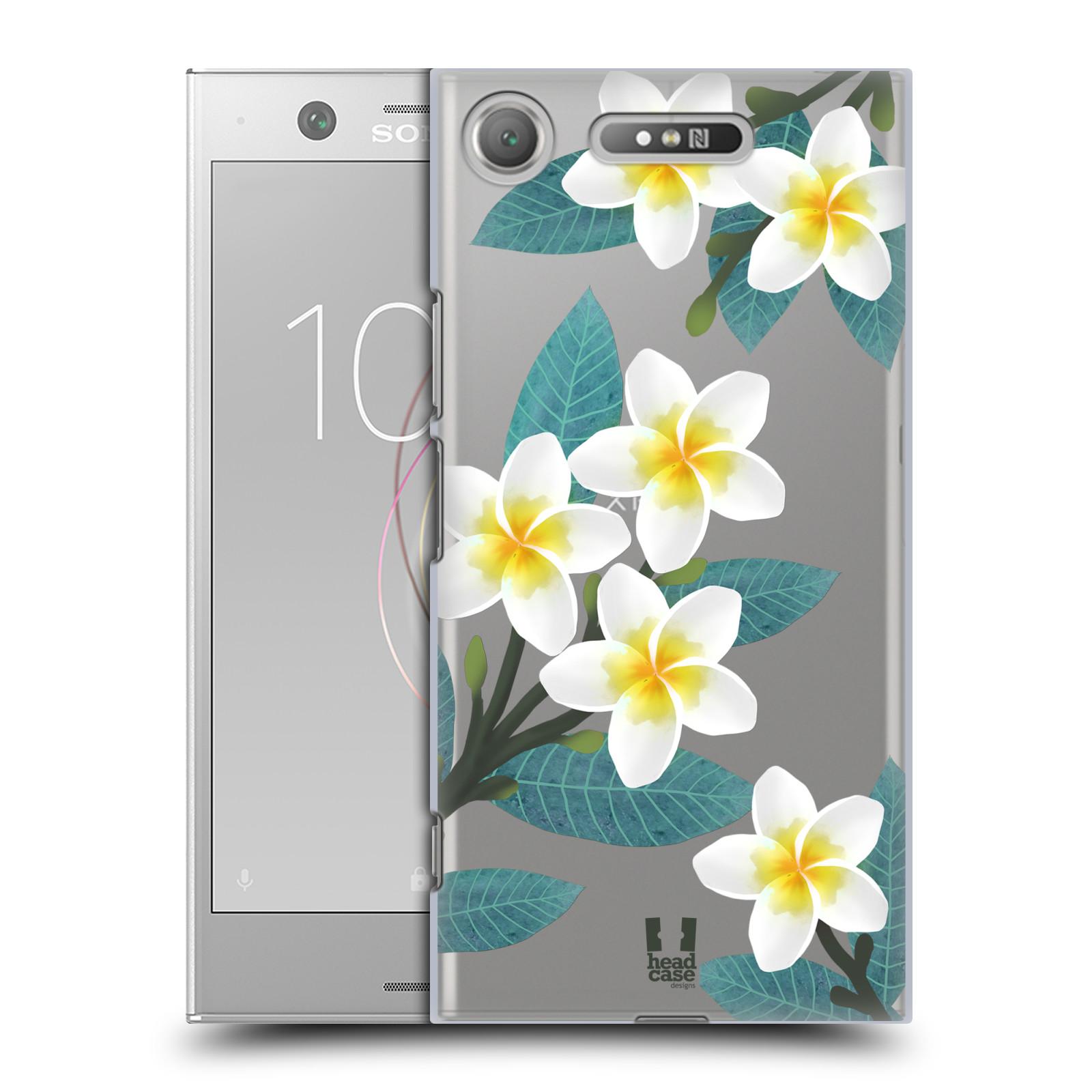 HEAD CASE plastový obal na mobil Sony Xperia XZ1 květinové vzory Plumérie