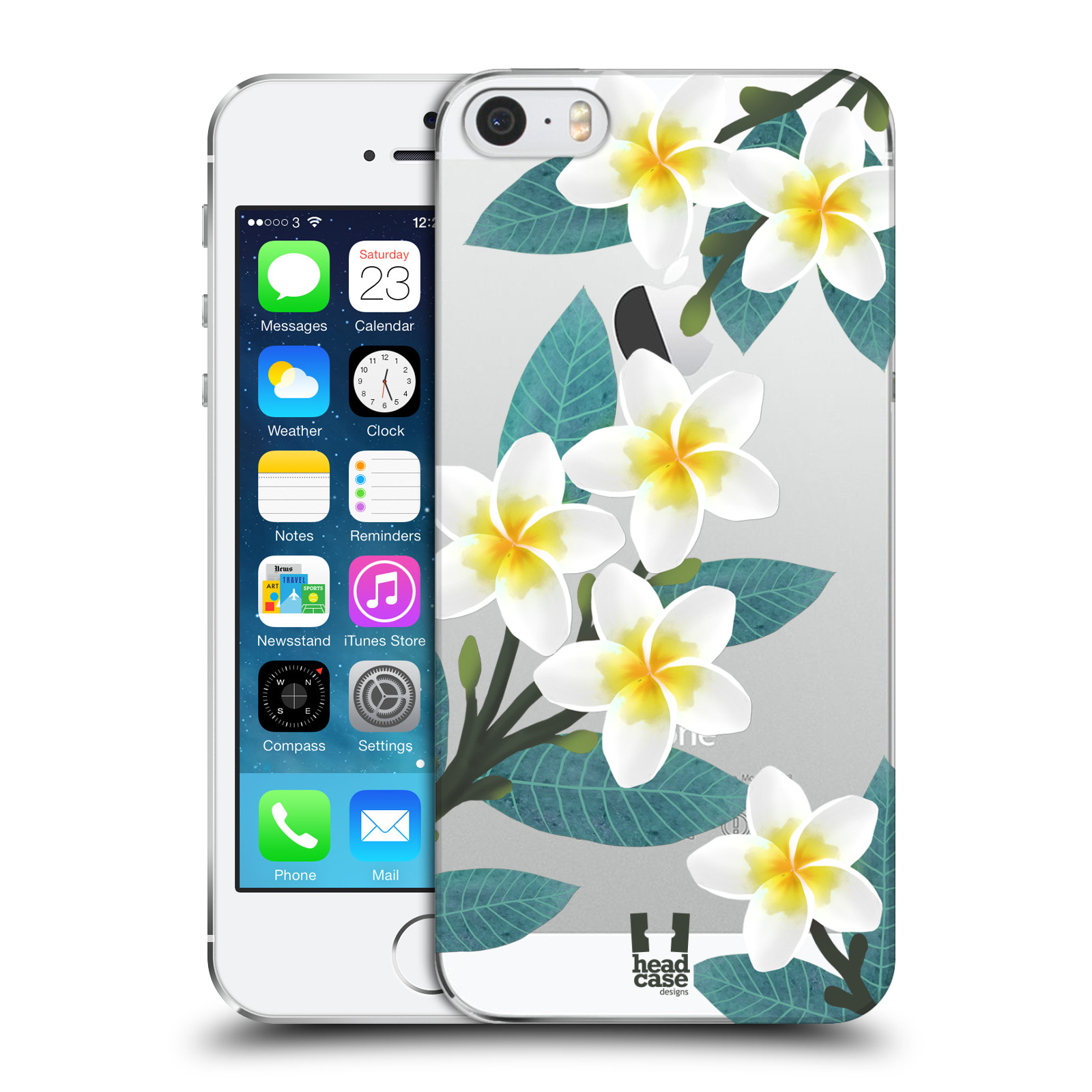 Plastové pouzdro pro mobil Apple Iphone 5 / 5S / SE květinové vzory Plumérie