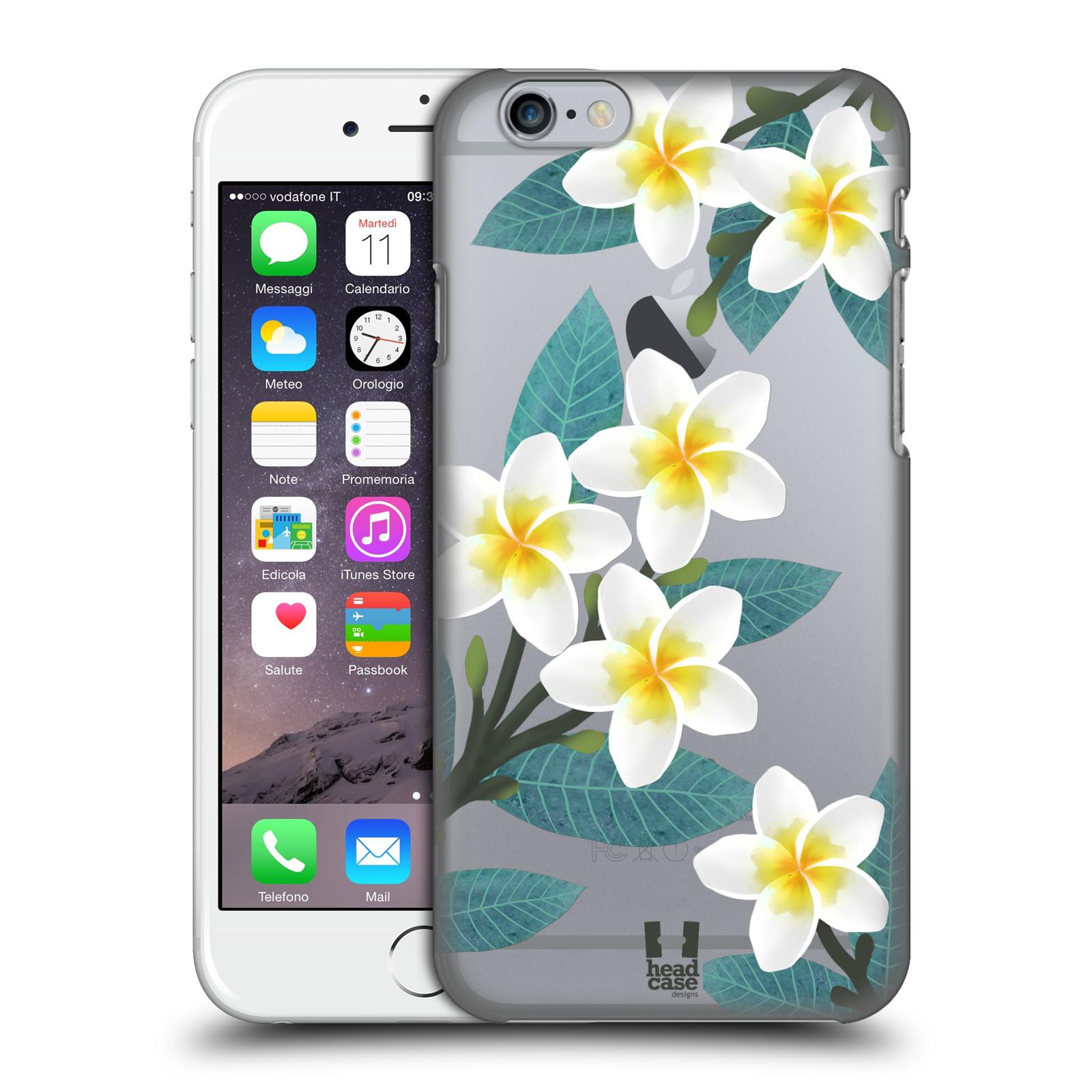 Plastové pouzdro pro mobil Apple Iphone 6/6S květinové vzory Plumérie