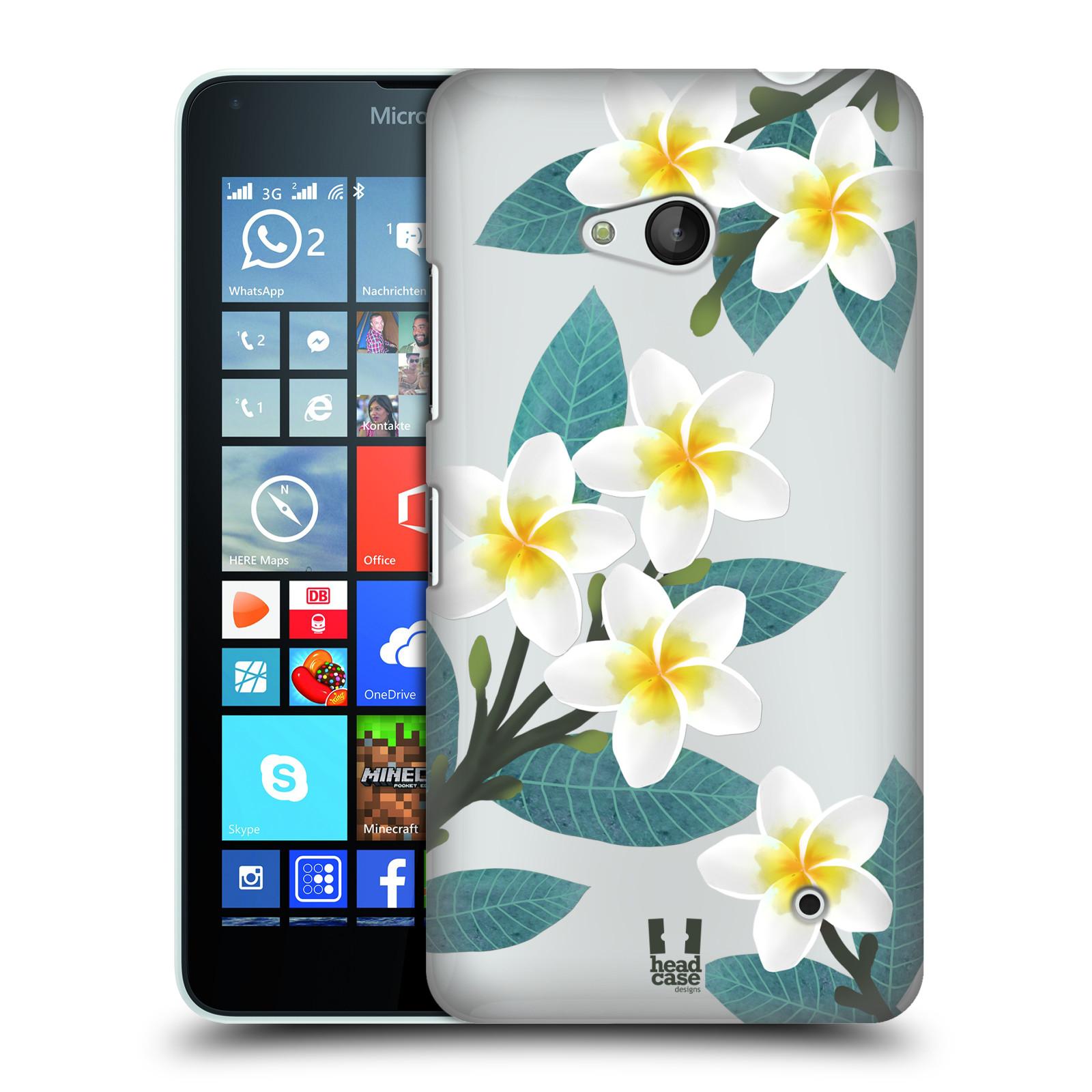 HEAD CASE plastový obal na mobil Nokia Lumia 640 květinové vzory Plumérie