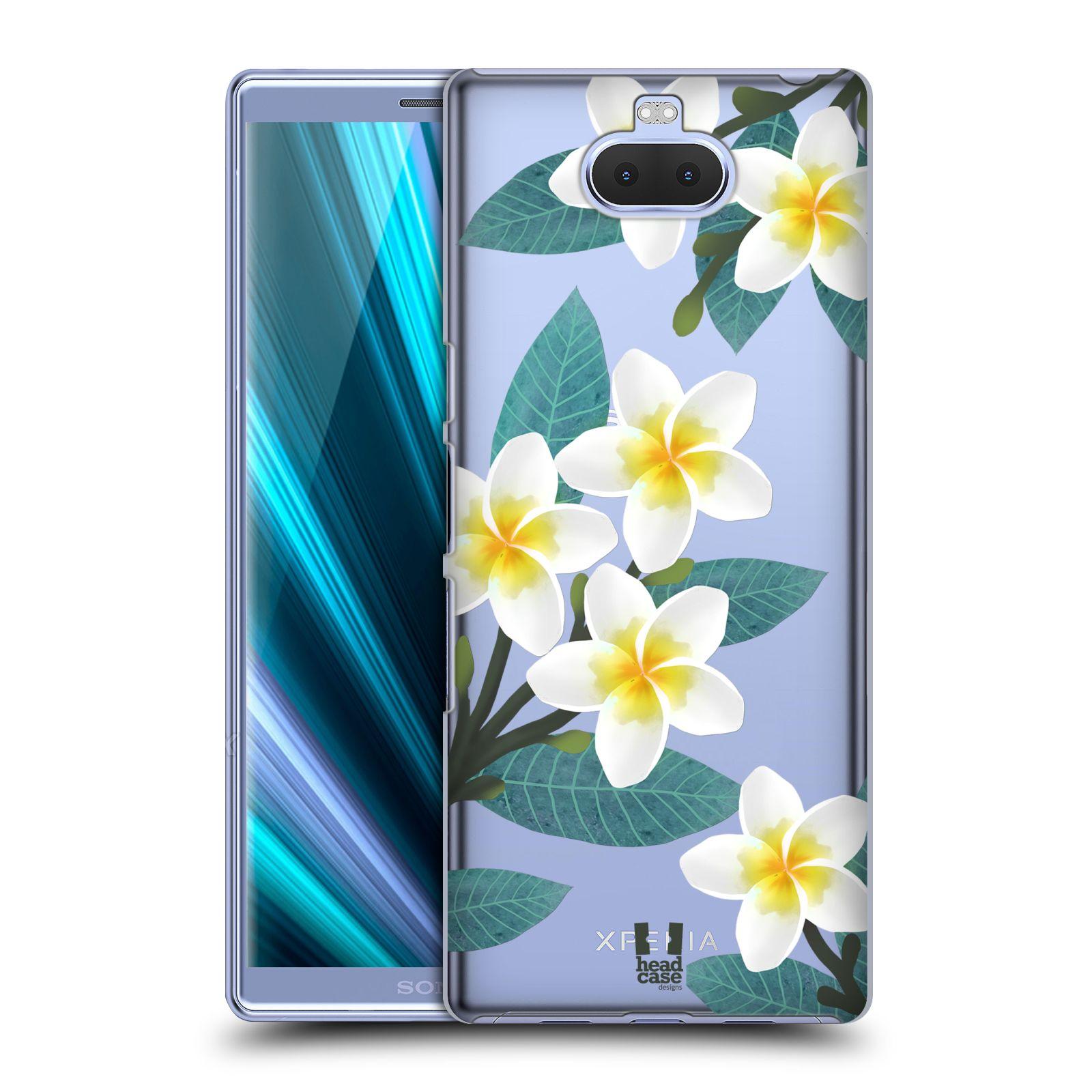 Pouzdro na mobil Sony Xperia 10 - Head Case - květinové vzory Plumérie