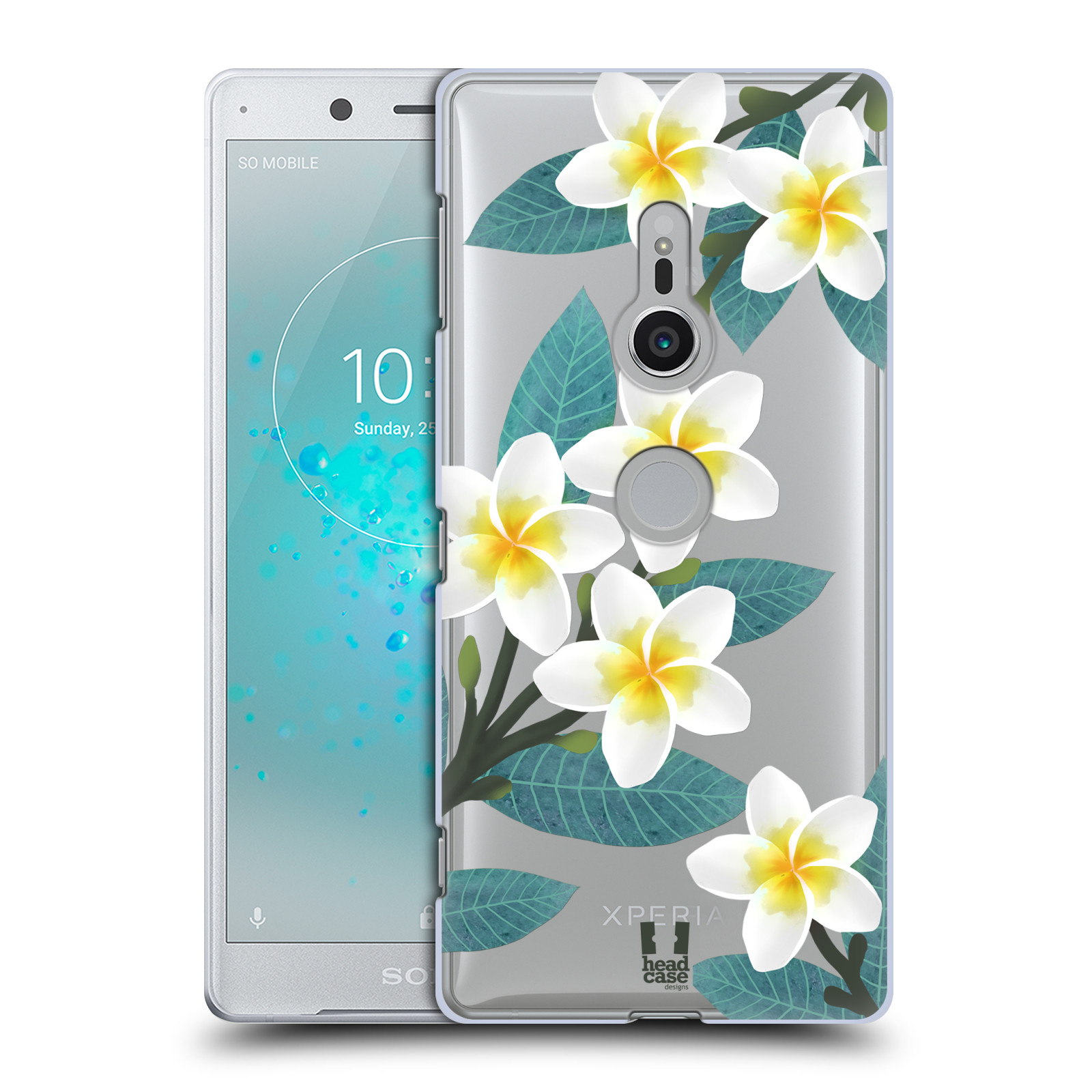 HEAD CASE plastový obal na mobil Sony Xperia XZ2 květinové vzory Plumérie