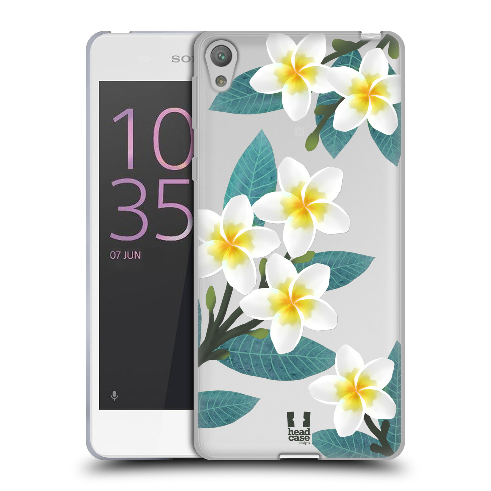 HEAD CASE silikonový obal na mobil Sony Xperia E5 květinové vzory Plumérie
