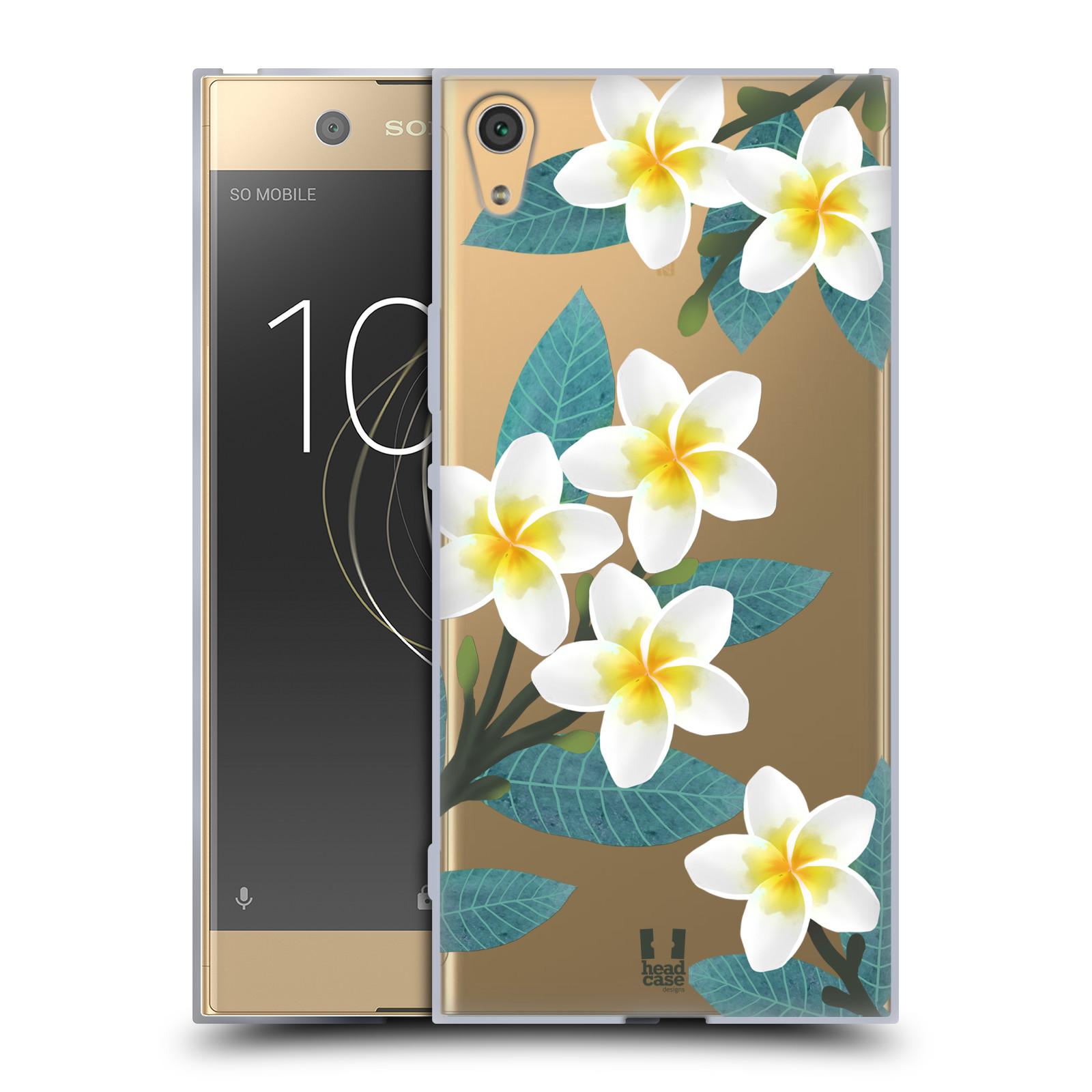 HEAD CASE silikonový obal na mobil Sony Xperia XA1 ULTRA květinové vzory Plumérie