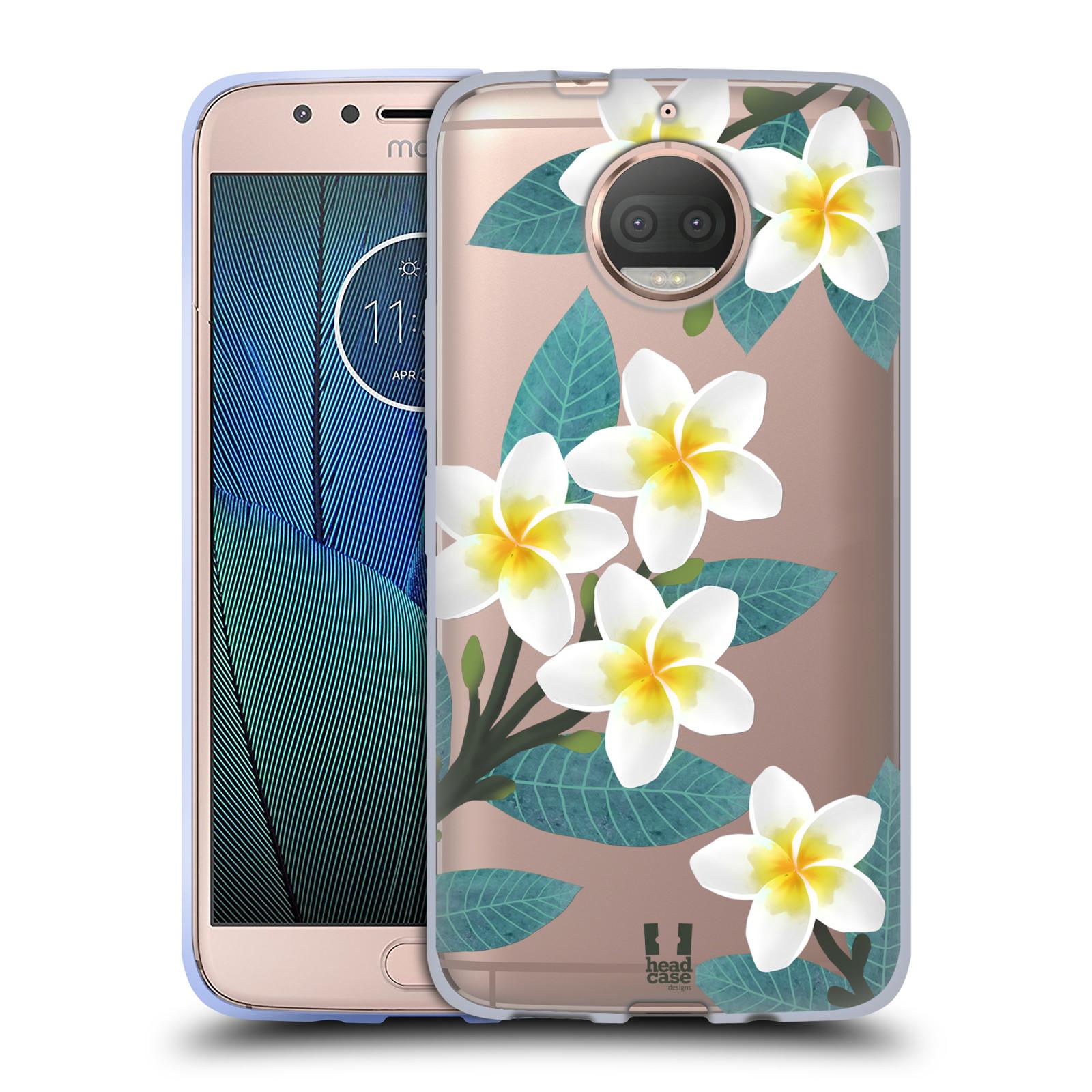 HEAD CASE silikonový obal na mobil Lenovo Moto G5s PLUS květinové vzory Plumérie