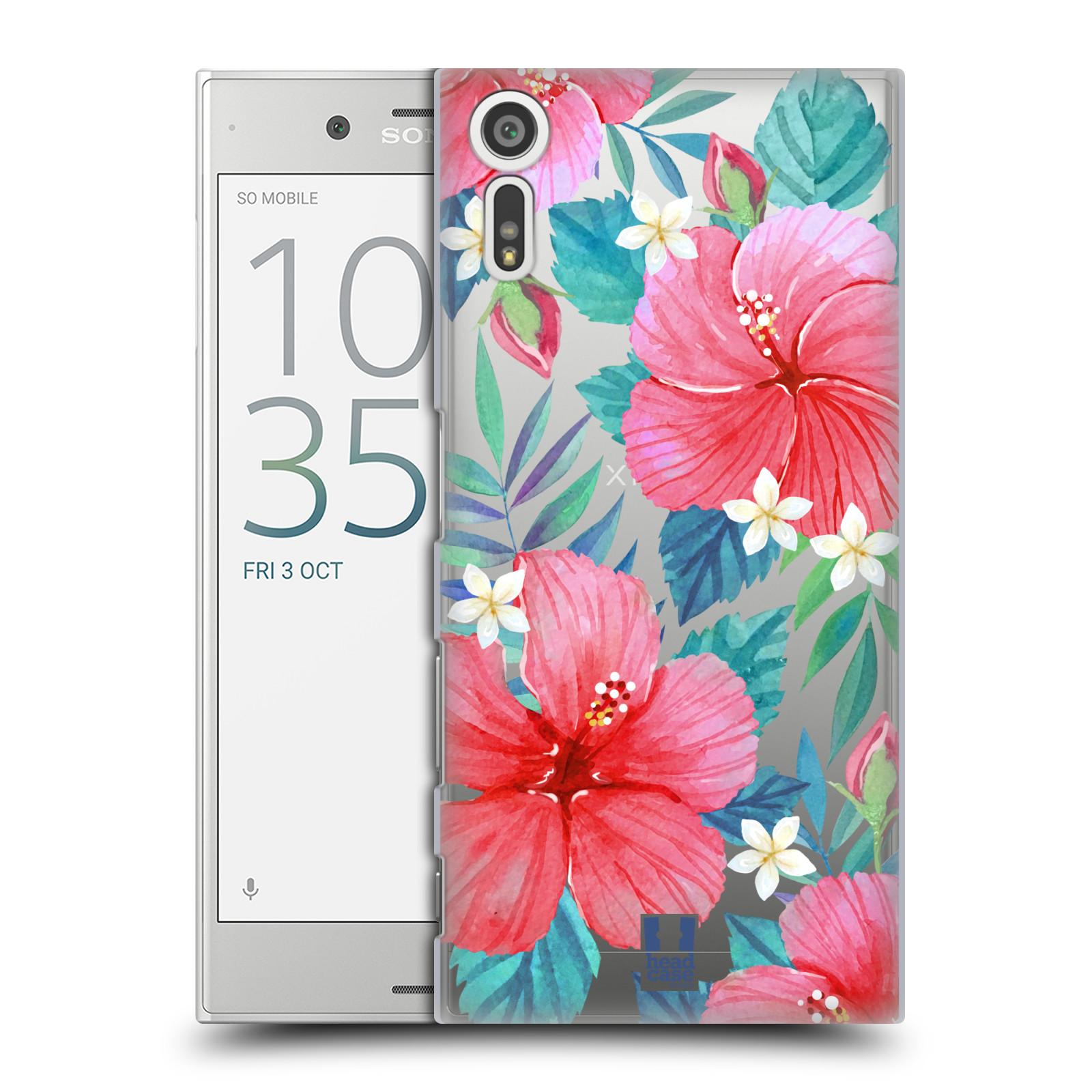 HEAD CASE plastový obal na mobil Sony Xperia XZ květinové vzory Ibišek čínská růže