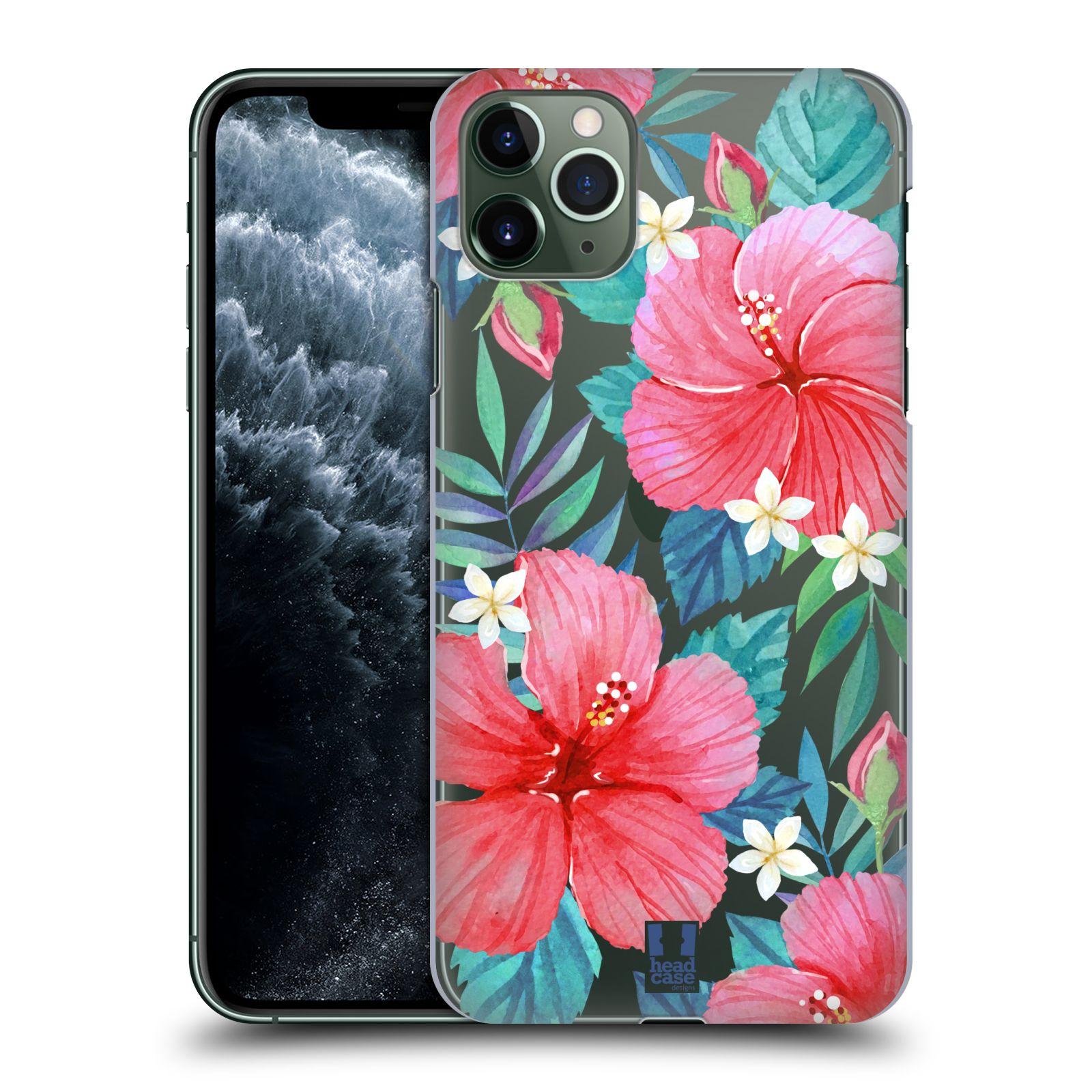 Pouzdro na mobil Apple Iphone 11 PRO MAX - HEAD CASE - květinové vzory Ibišek čínská růže