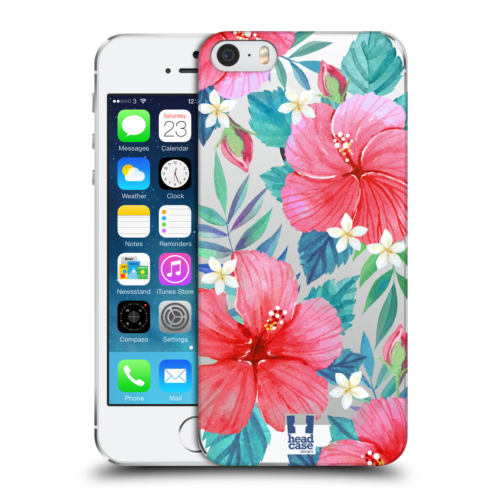 Plastové pouzdro pro mobil Apple Iphone 5 / 5S / SE květinové vzory Ibišek čínská růže