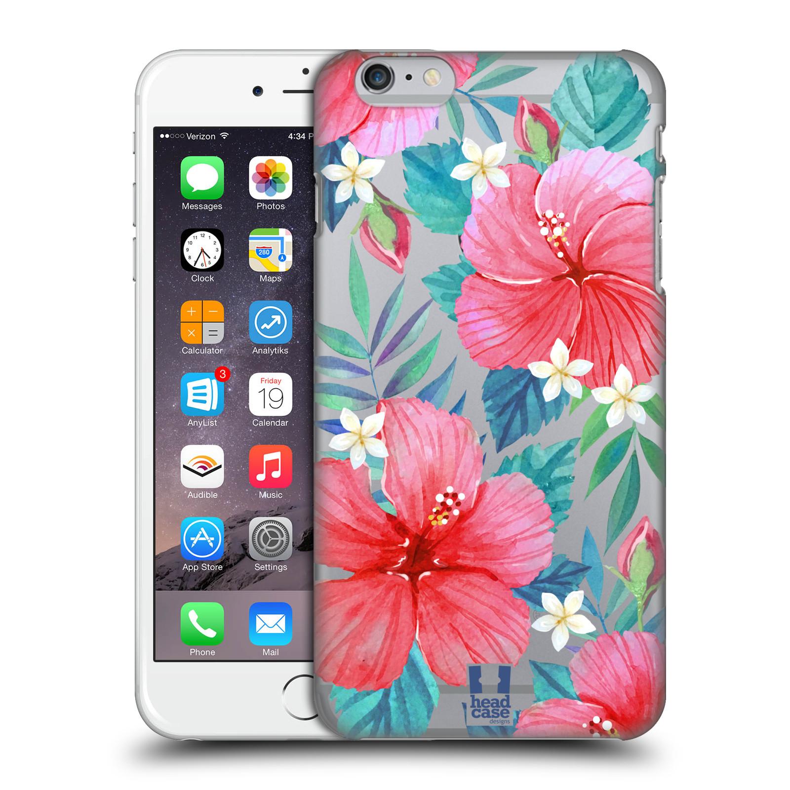 Plastové pouzdro pro mobil Apple Iphone 6 PLUS / 6S PLUS květinové vzory Ibišek čínská růže