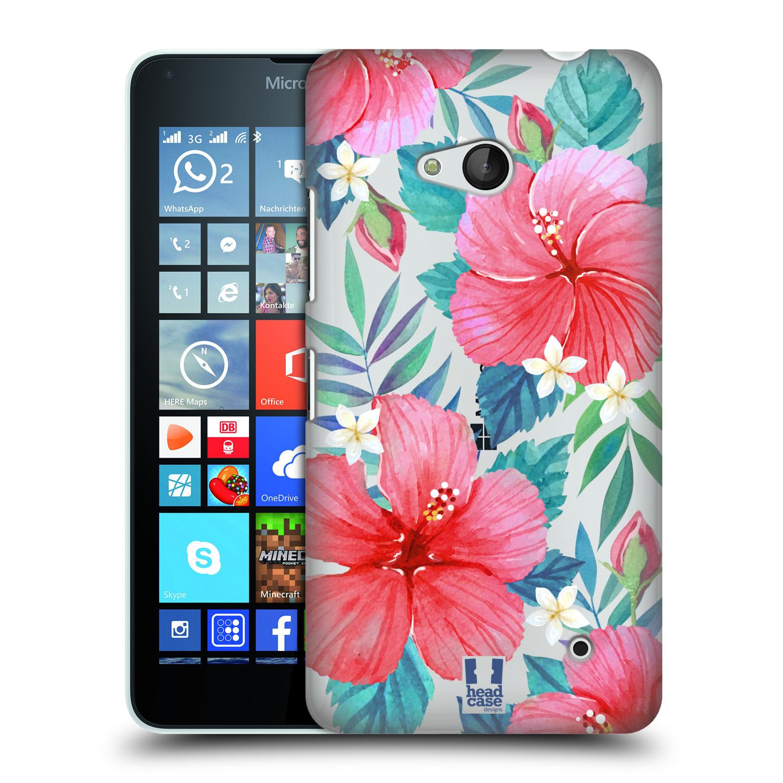 HEAD CASE plastový obal na mobil Nokia Lumia 640 květinové vzory Ibišek čínská růže