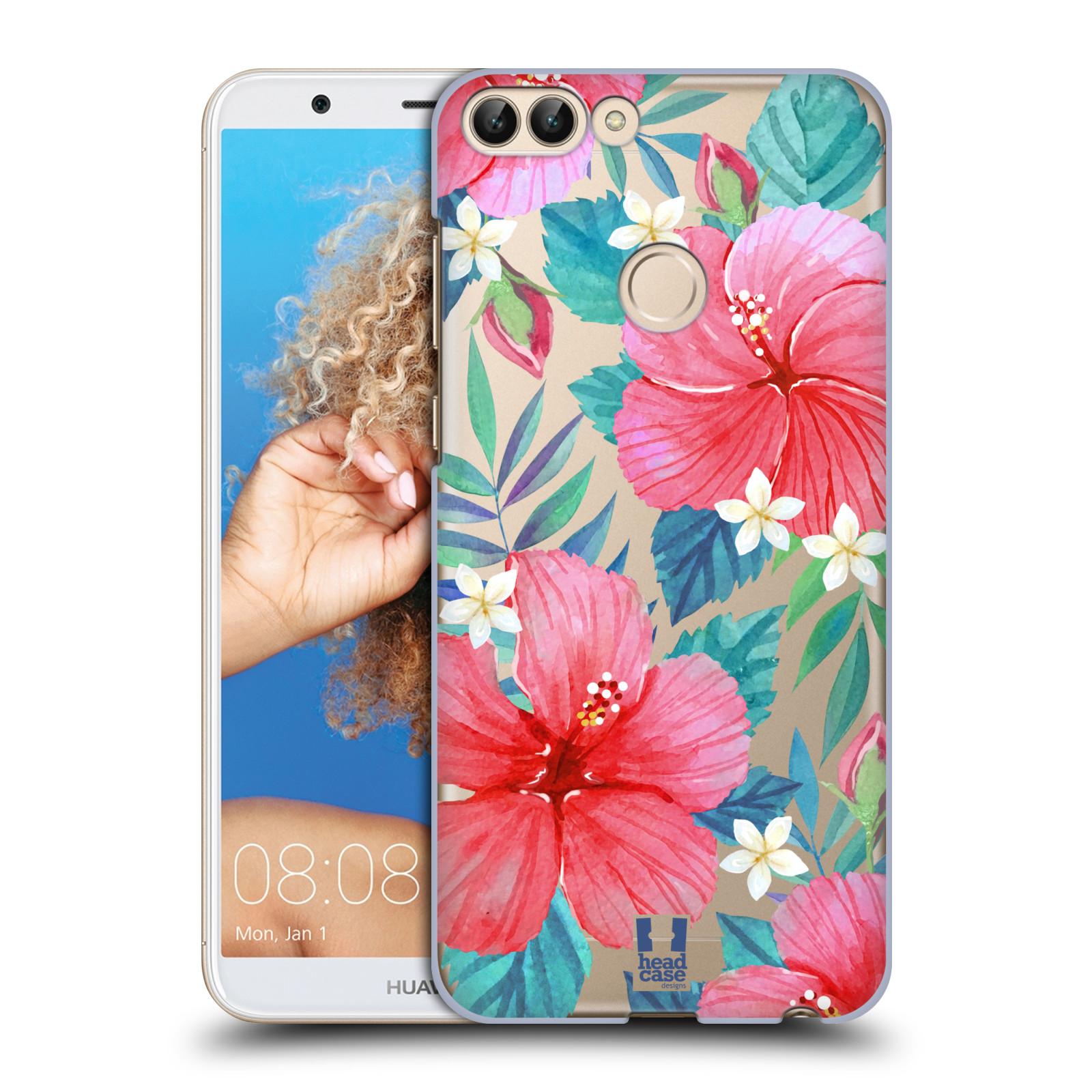 HEAD CASE plastový obal na mobil Huawei P Smart květinové vzory Ibišek čínská růže