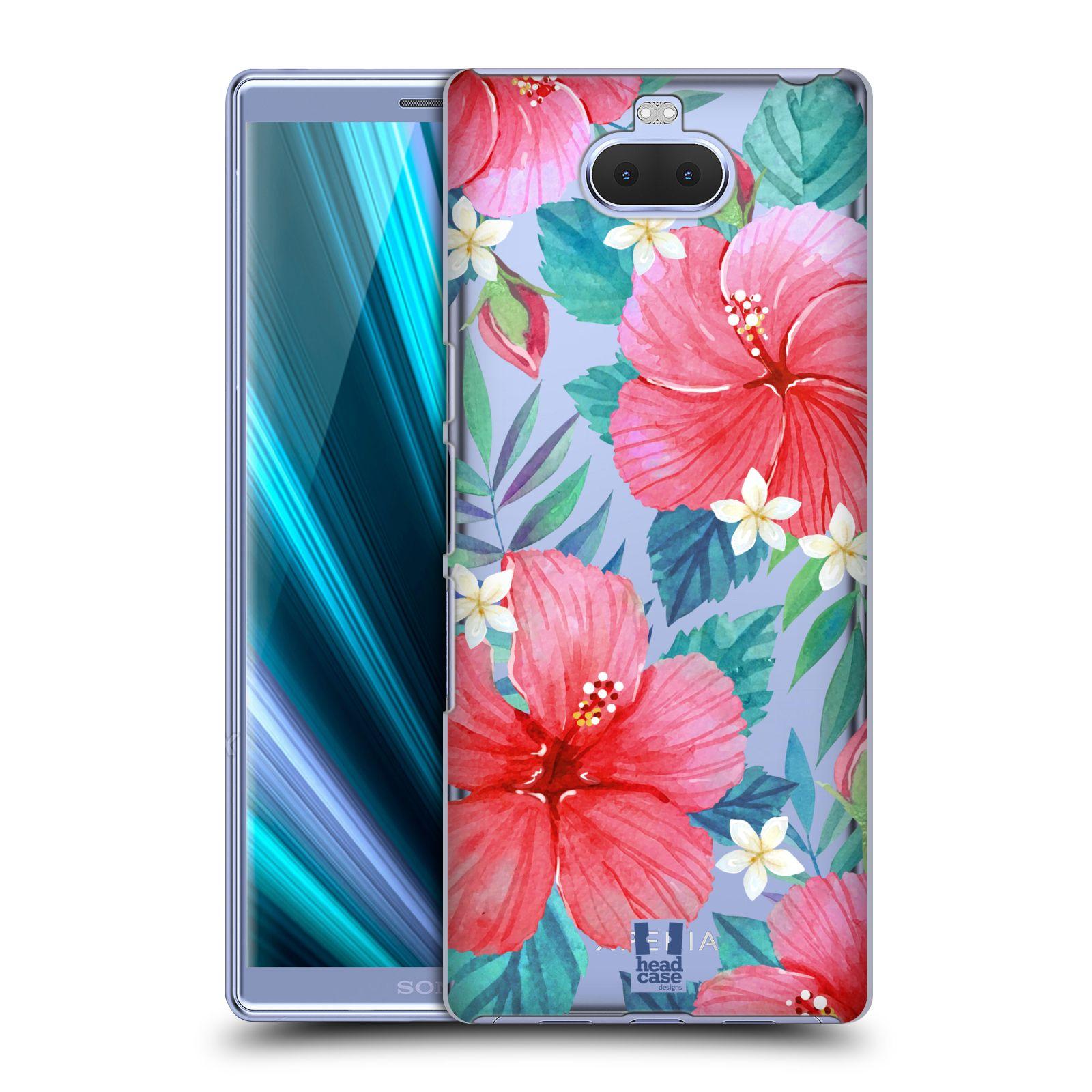 Pouzdro na mobil Sony Xperia 10 - Head Case - květinové vzory Ibišek čínská růže