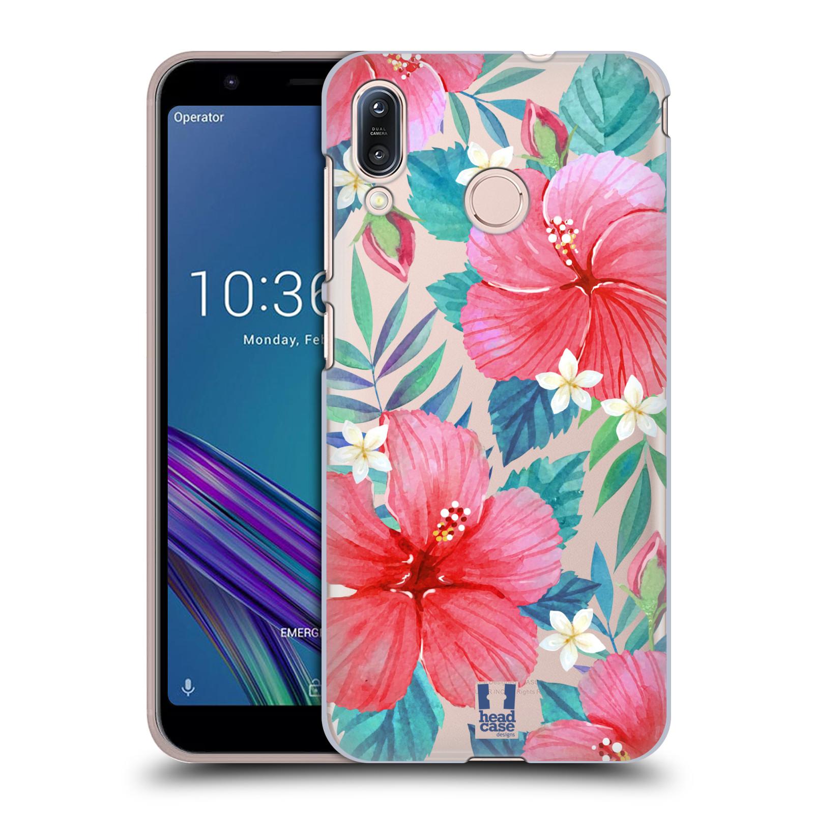 Pouzdro na mobil Asus Zenfone Max M1 (ZB555KL) - HEAD CASE - květinové vzory Ibišek čínská růže