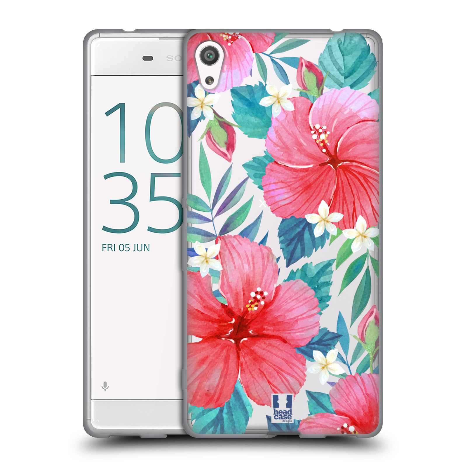 HEAD CASE silikonový obal na mobil Sony Xperia XA ULTRA květinové vzory Ibišek čínská růže