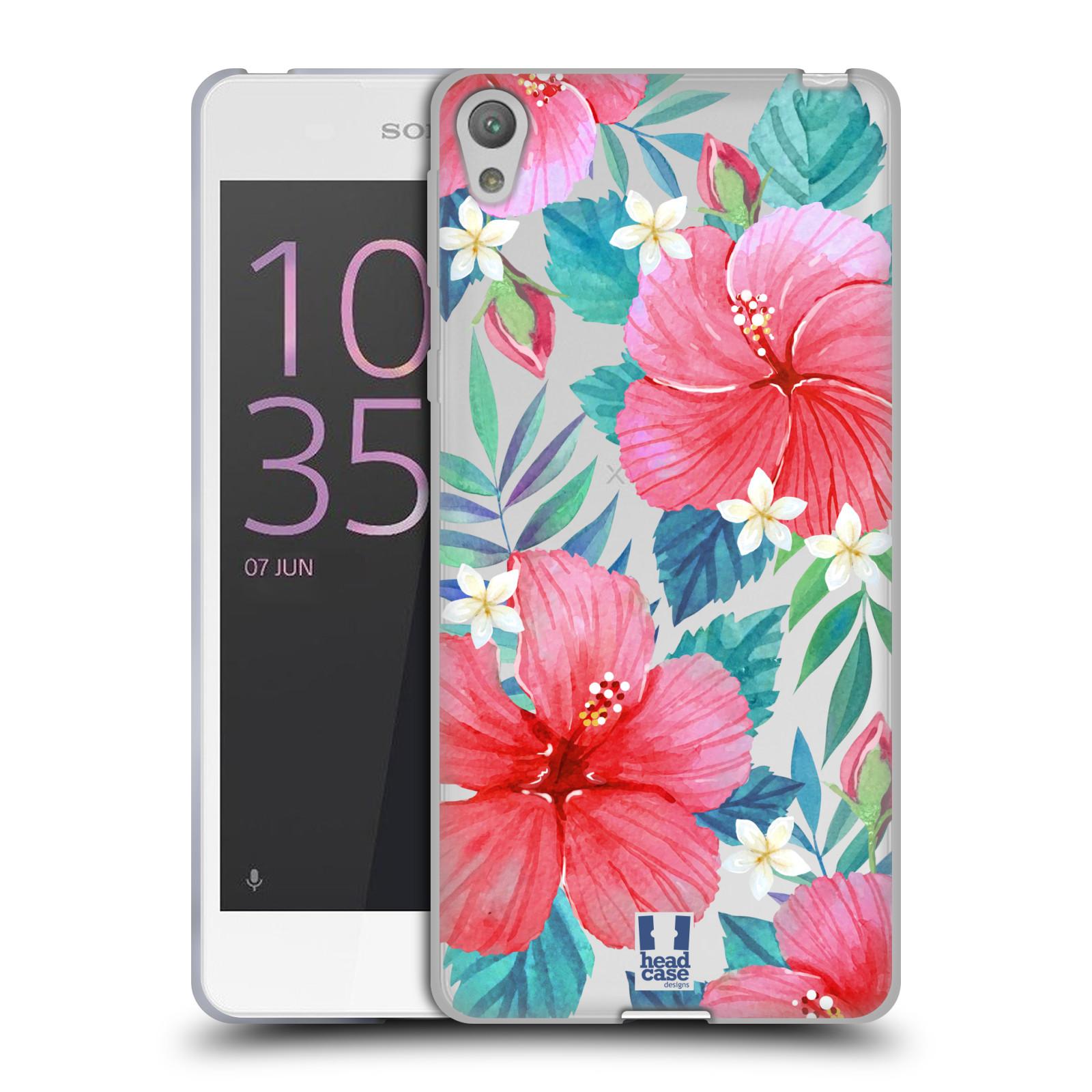 HEAD CASE silikonový obal na mobil Sony Xperia E5 květinové vzory Ibišek čínská růže