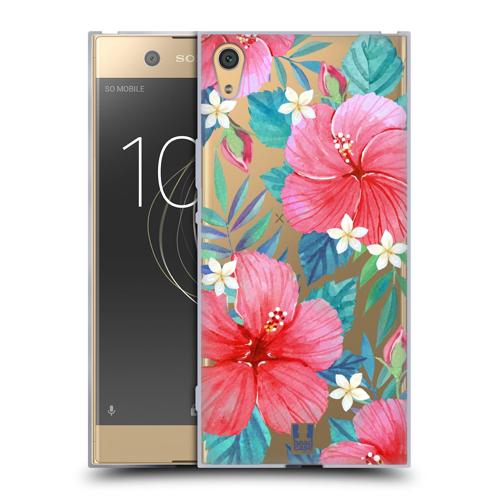 HEAD CASE silikonový obal na mobil Sony Xperia XA1 ULTRA květinové vzory Ibišek čínská růže