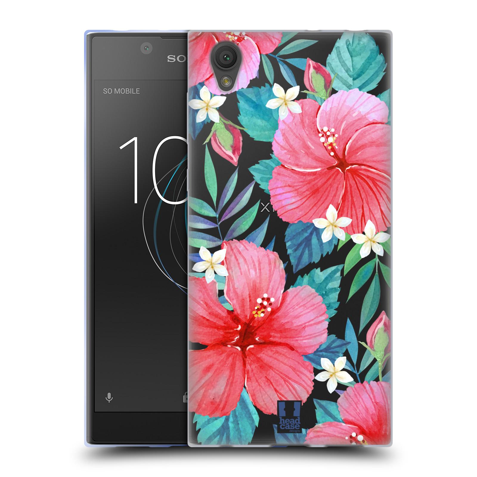 HEAD CASE silikonový obal na mobil Sony Xperia L1 květinové vzory Ibišek čínská růže