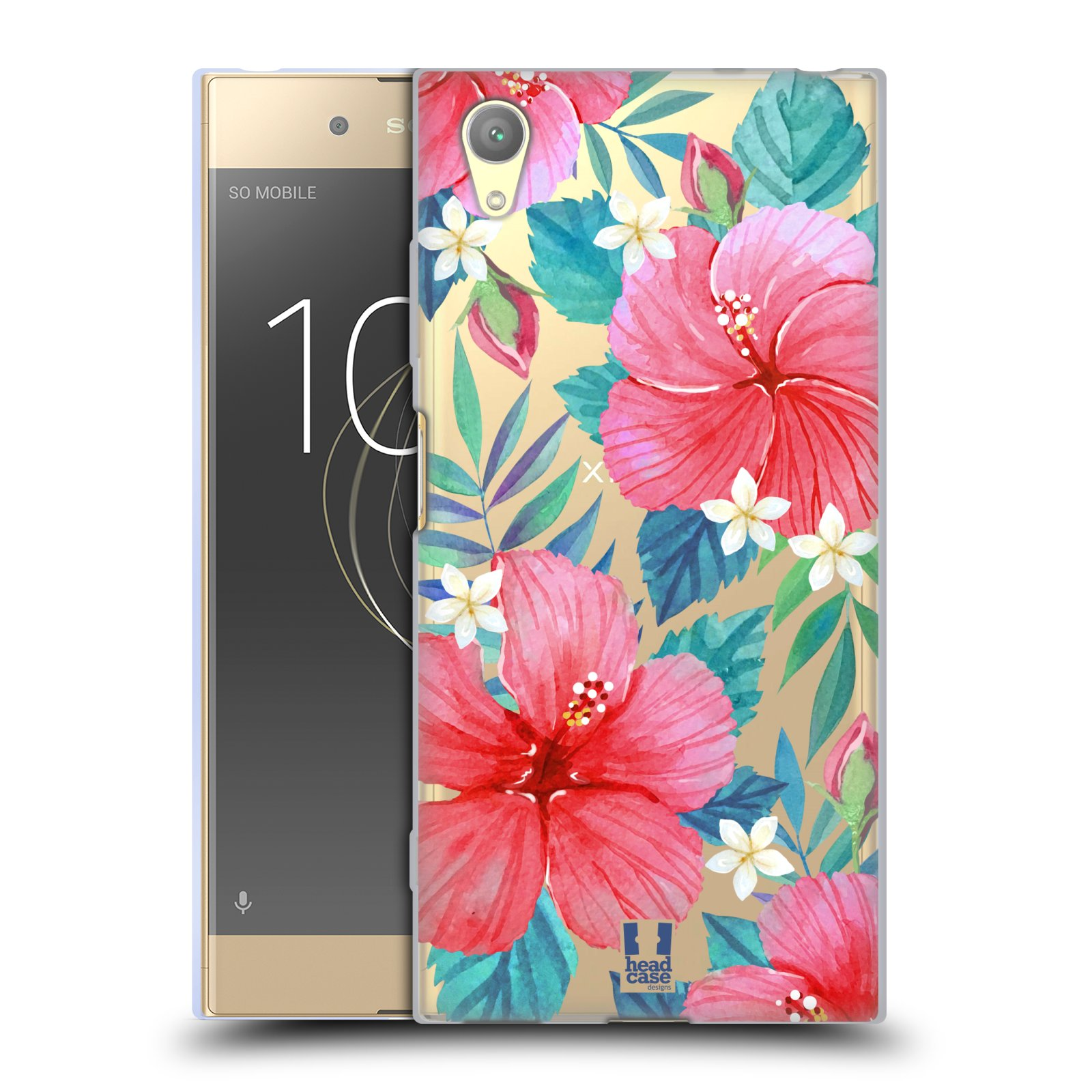 HEAD CASE silikonový obal na mobil Sony Xperia XA1 PLUS květinové vzory Ibišek čínská růže
