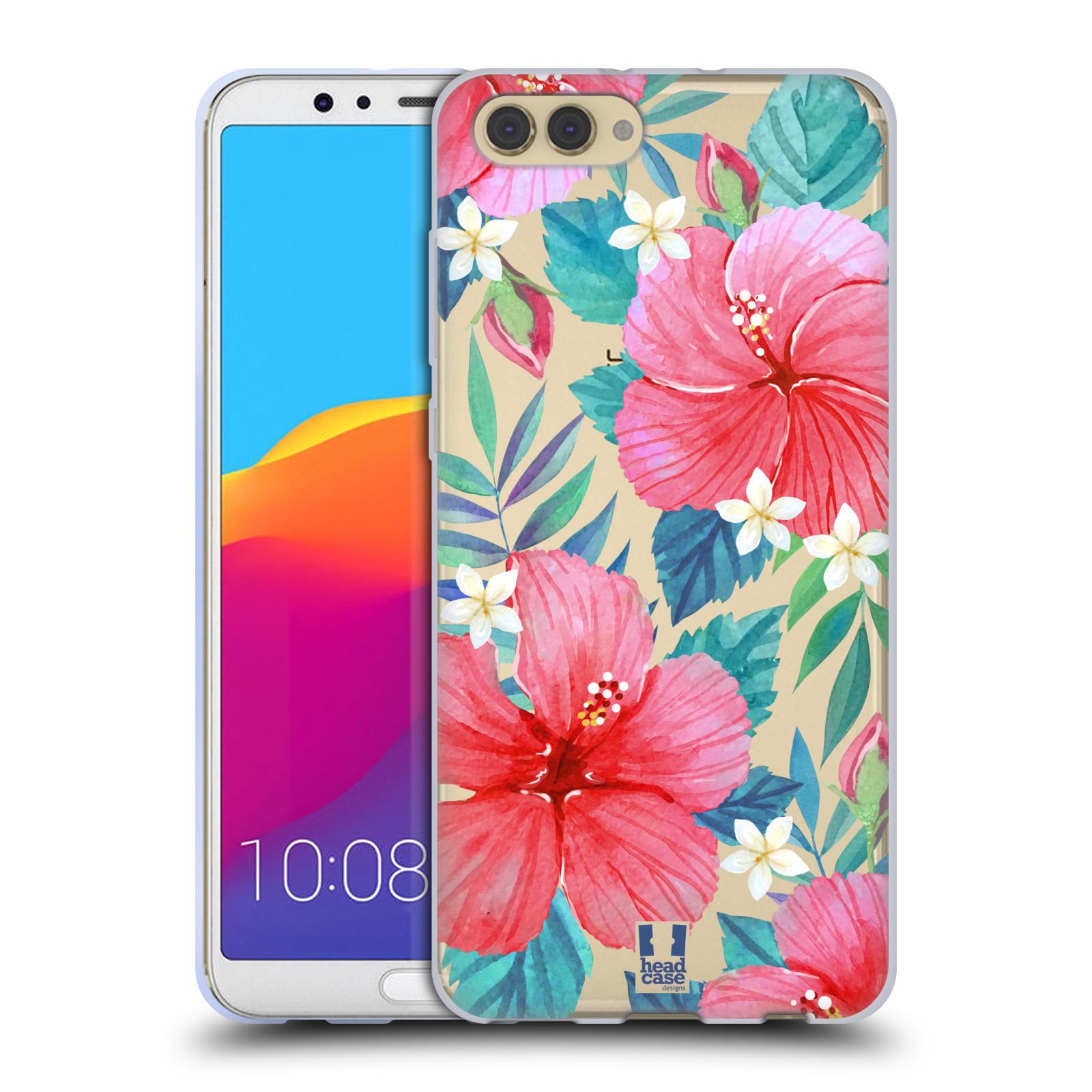 HEAD CASE silikonový obal na mobil Huawei HONOR VIEW 10 / V10 květinové vzory Ibišek čínská růže