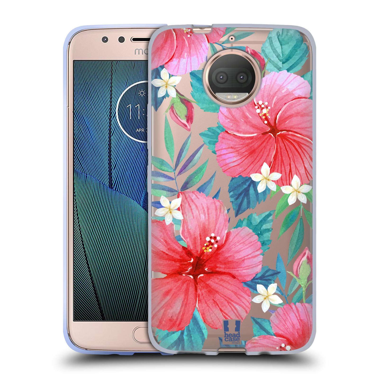 HEAD CASE silikonový obal na mobil Lenovo Moto G5s PLUS květinové vzory Ibišek čínská růže