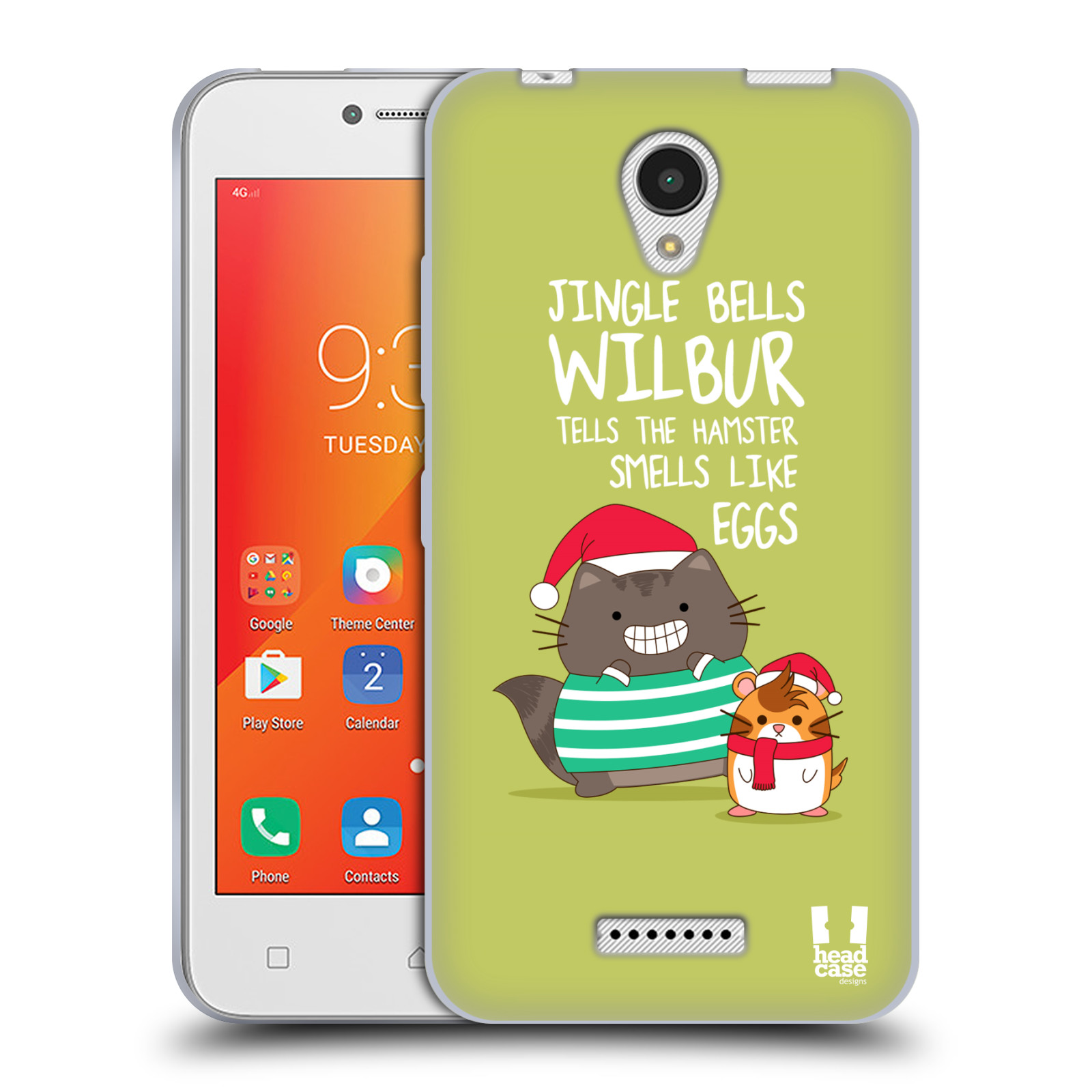 HEAD-CASE-DESIGNS-WILBUR-IL-GATTO-NATALE-ALL-STAR-CASE-IN-GEL-PER-LENOVO-A-PLUS
