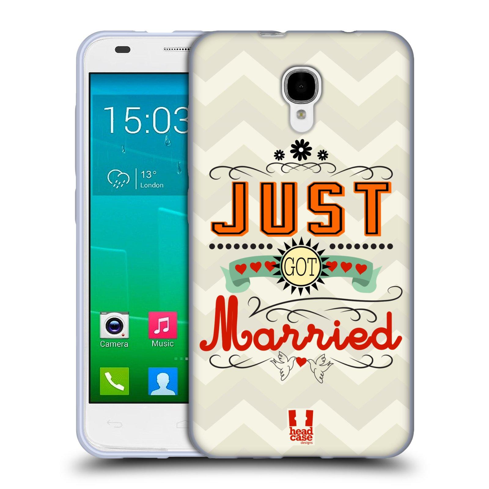 HEAD CASE DESIGNS WEDDING VOWS SOFT GEL CASE FOR ALCATEL PHONES