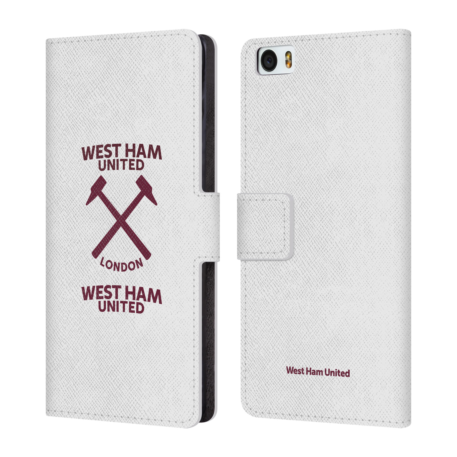 WEST-HAM-UNITED-FC-2016-17-HAMMER-MARQUE-KIT-LEATHER-BOOK-CASE-FOR-XIAOMI-PHONES