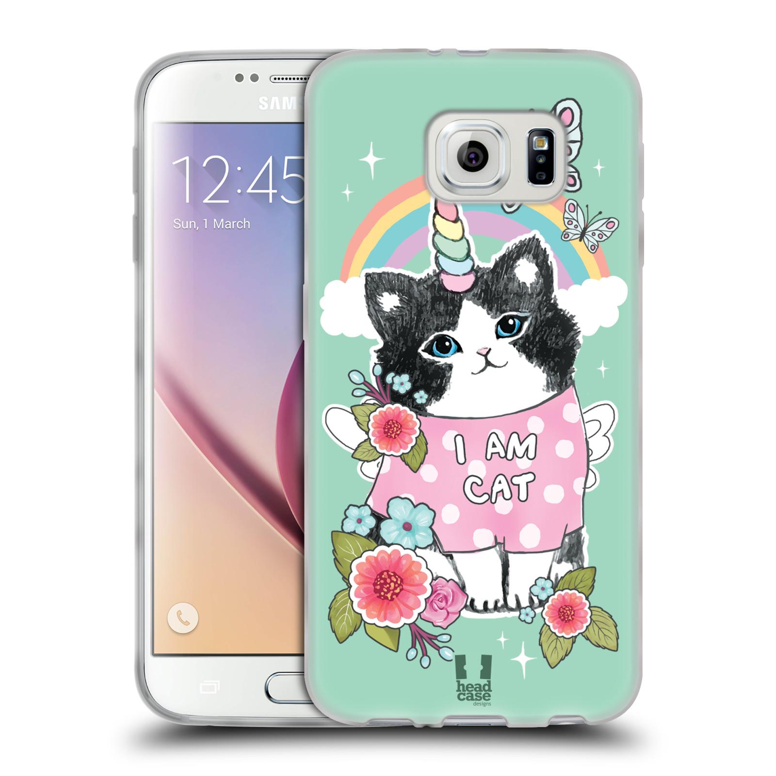 HEAD CASE DESIGNS WHIMSICAL KITTENS SOFT GEL CASE FOR SAMSUNG PHONES 1