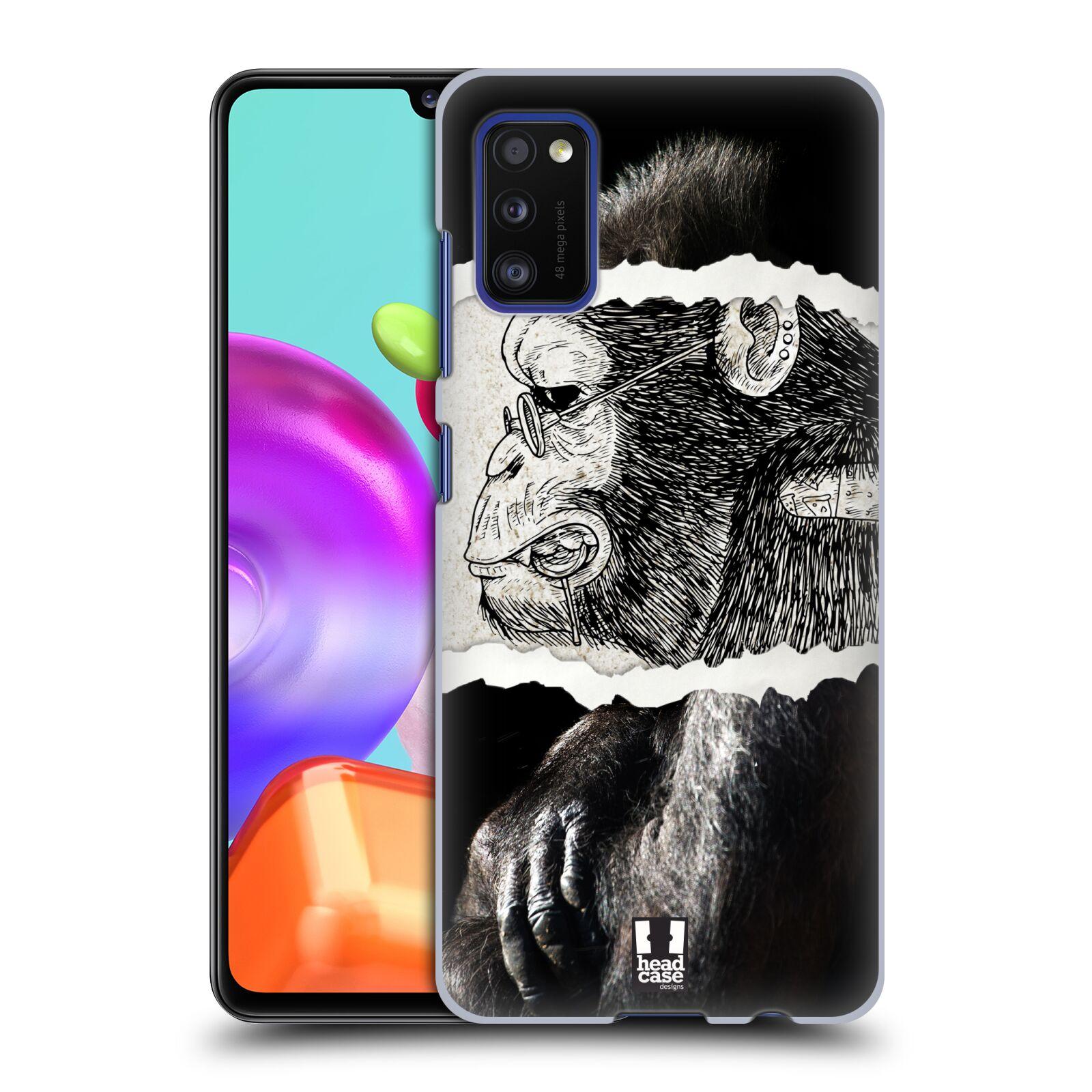 Zadní kryt na mobil Samsung Galaxy A41 vzor zvířata koláž opice