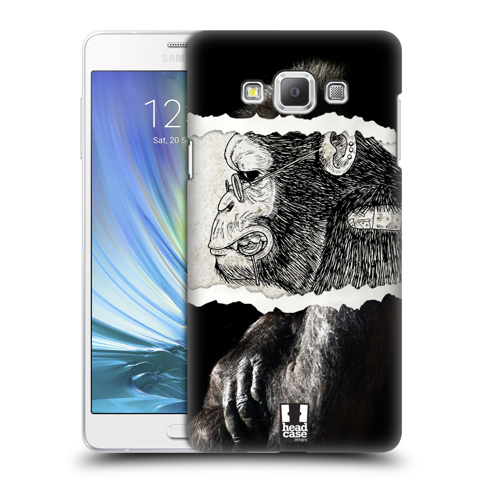 HEAD CASE plastový obal na mobil SAMSUNG GALAXY A7 vzor zvířata koláž opice