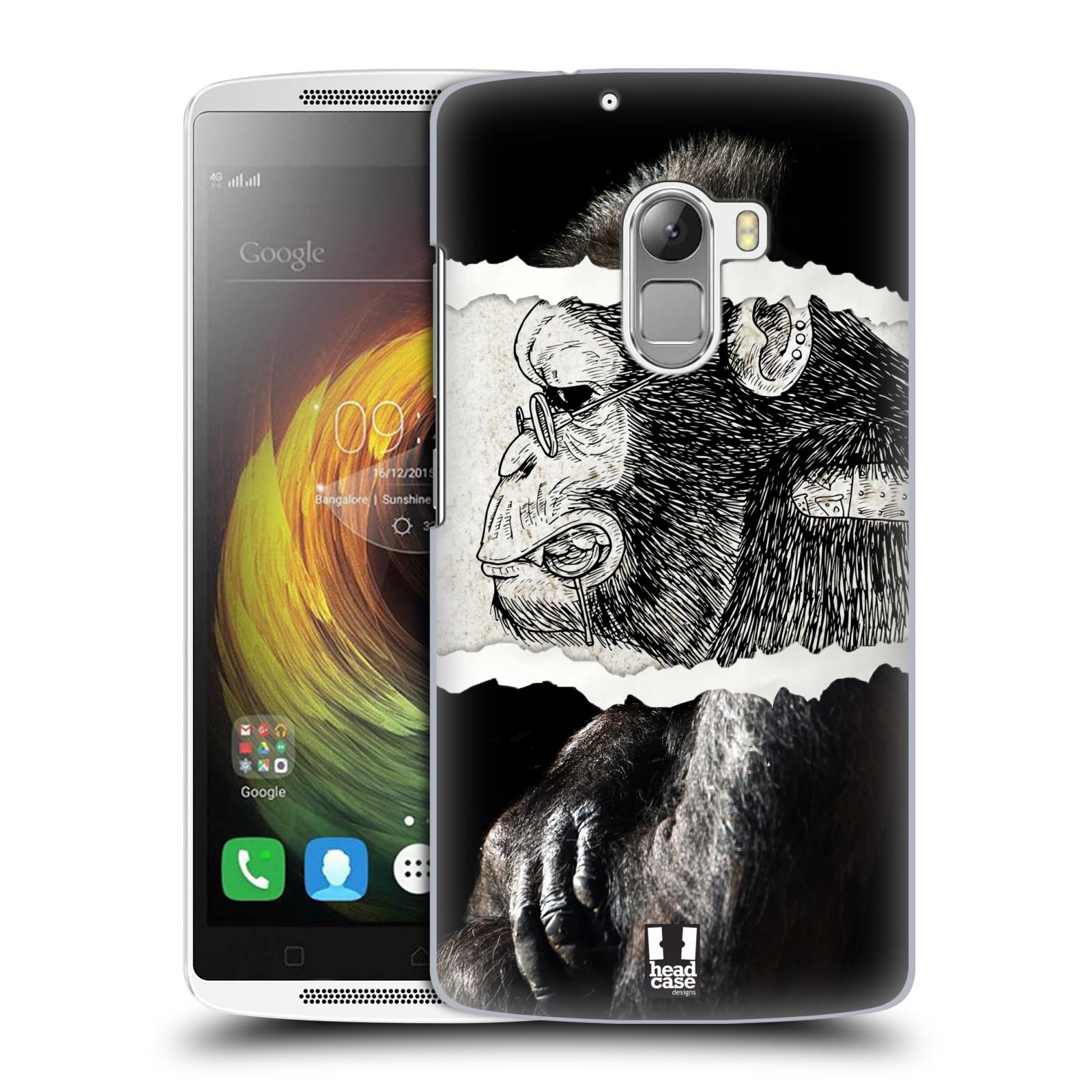 HEAD CASE pevný plastový obal na mobil LENOVO A7010 / A7010 DUAL / K4 Note / Vibe X3 lite vzor zvířata koláž opice