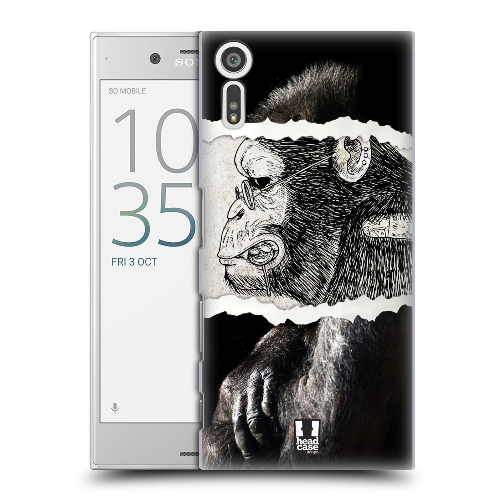 HEAD CASE plastový obal na mobil Sony Xperia XZ vzor zvířata koláž opice