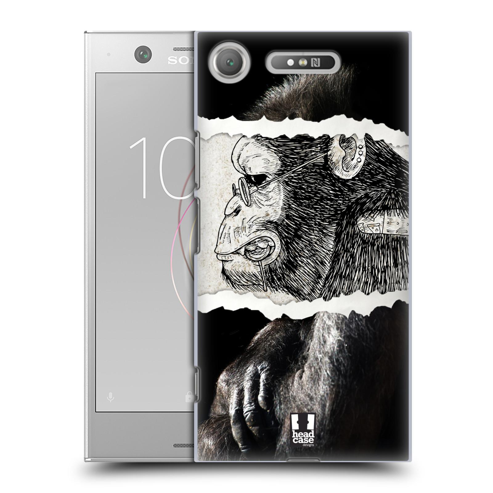 HEAD CASE plastový obal na mobil Sony Xperia XZ1 vzor zvířata koláž opice