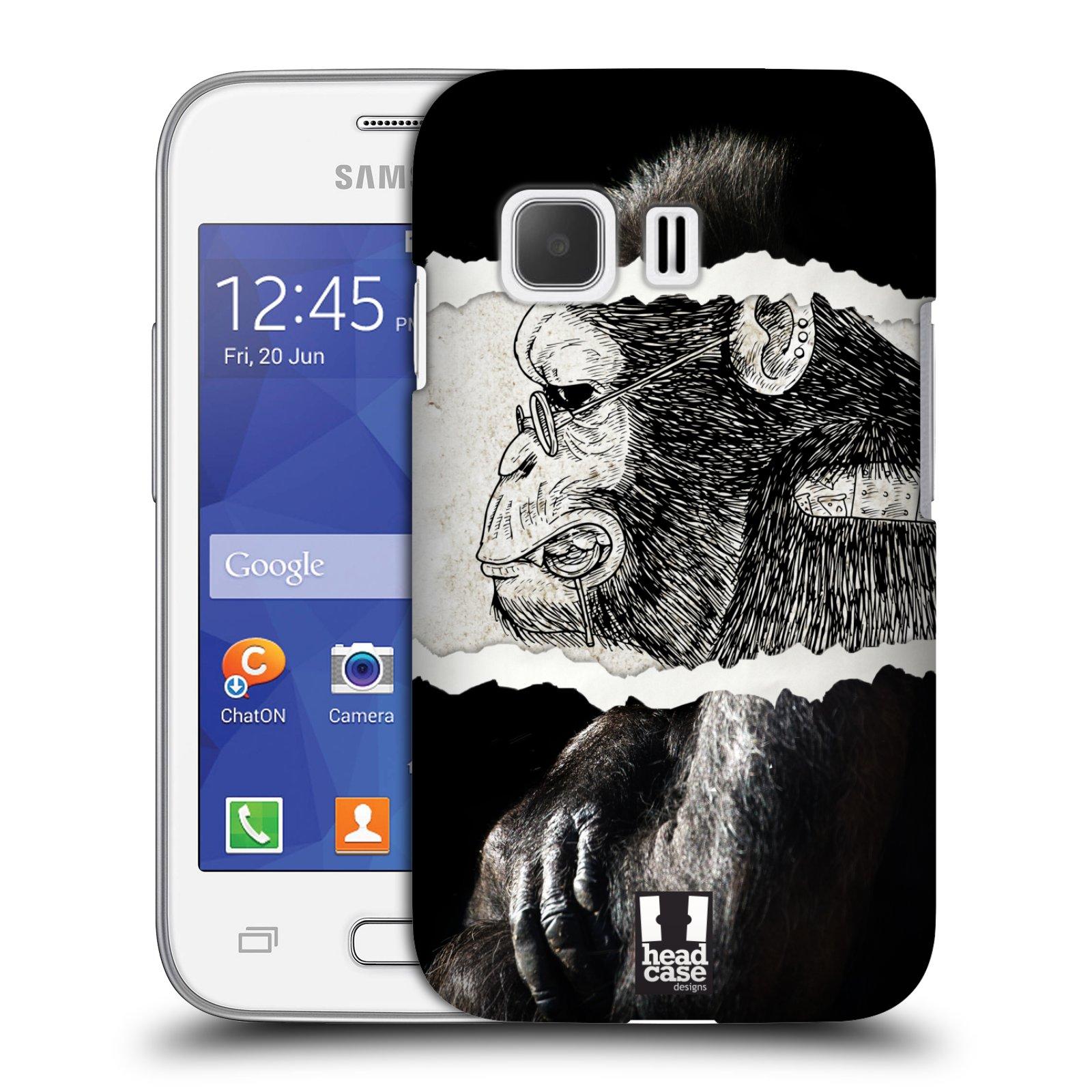 HEAD CASE plastový obal na mobil SAMSUNG Galaxy Young 2 (G130) vzor zvířata koláž opice