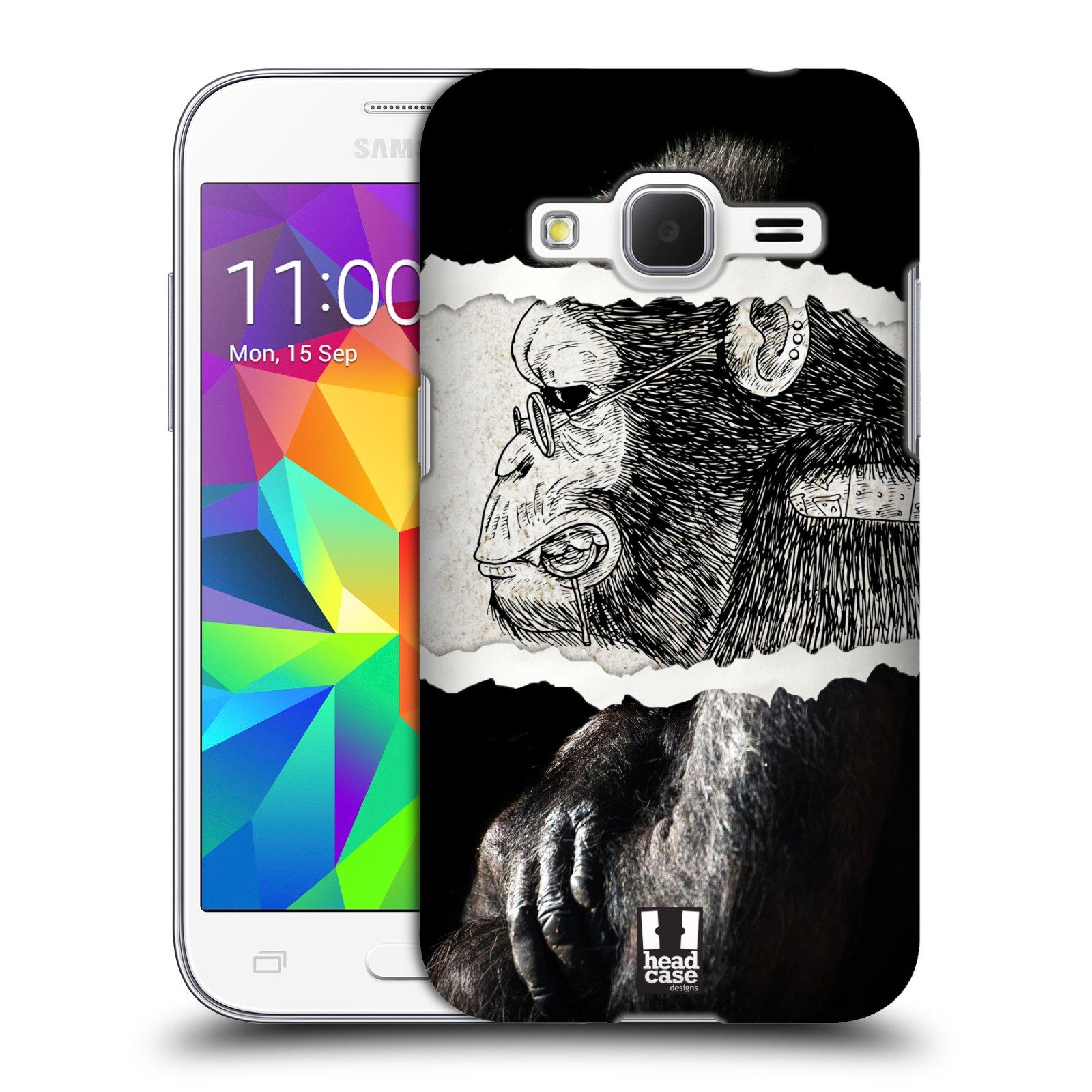 HEAD CASE plastový obal na mobil SAMSUNG GALAXY Core Prime (Core Prime VE) vzor zvířata koláž opice