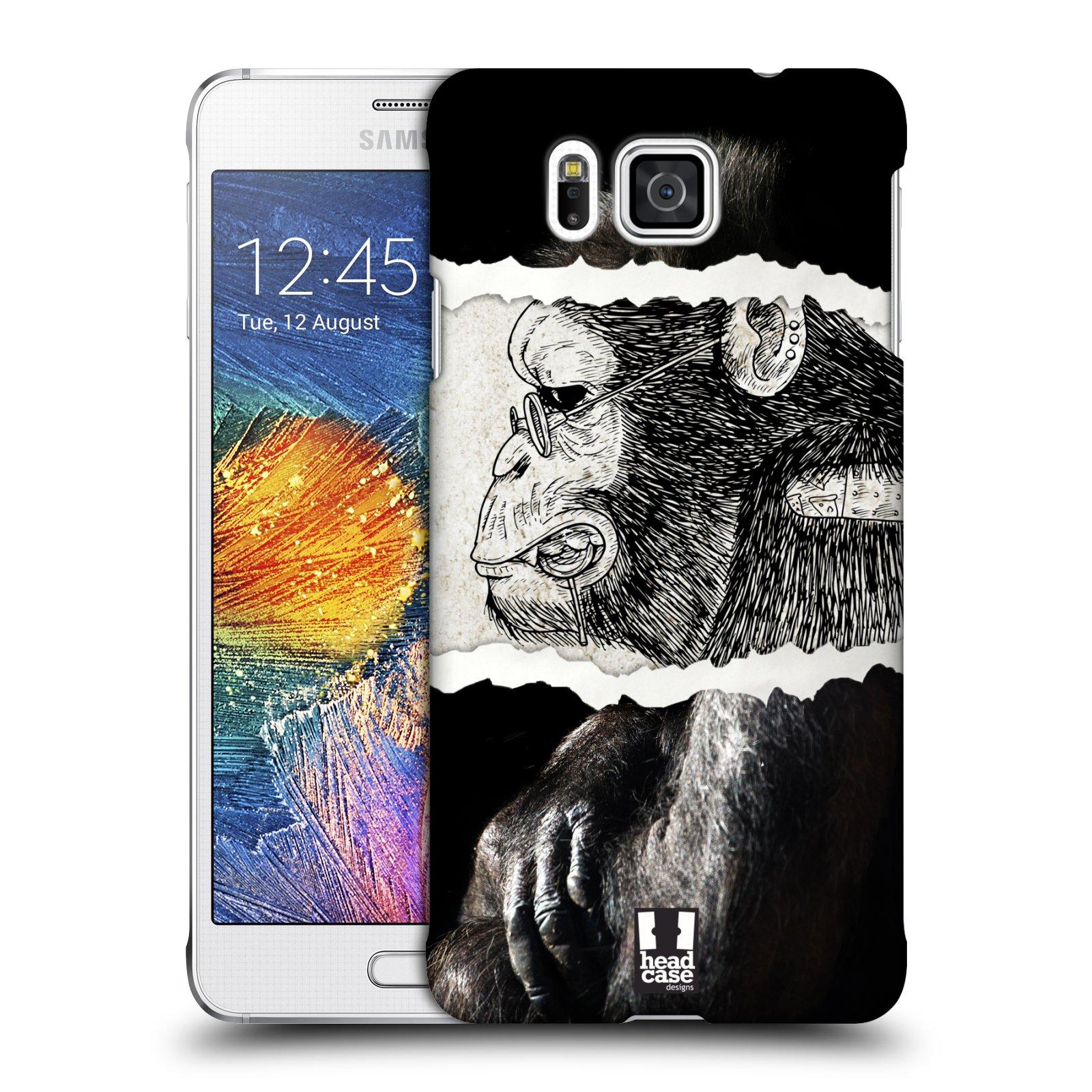 HEAD CASE plastový obal na mobil SAMSUNG Galaxy Alpha (G850) vzor zvířata koláž opice