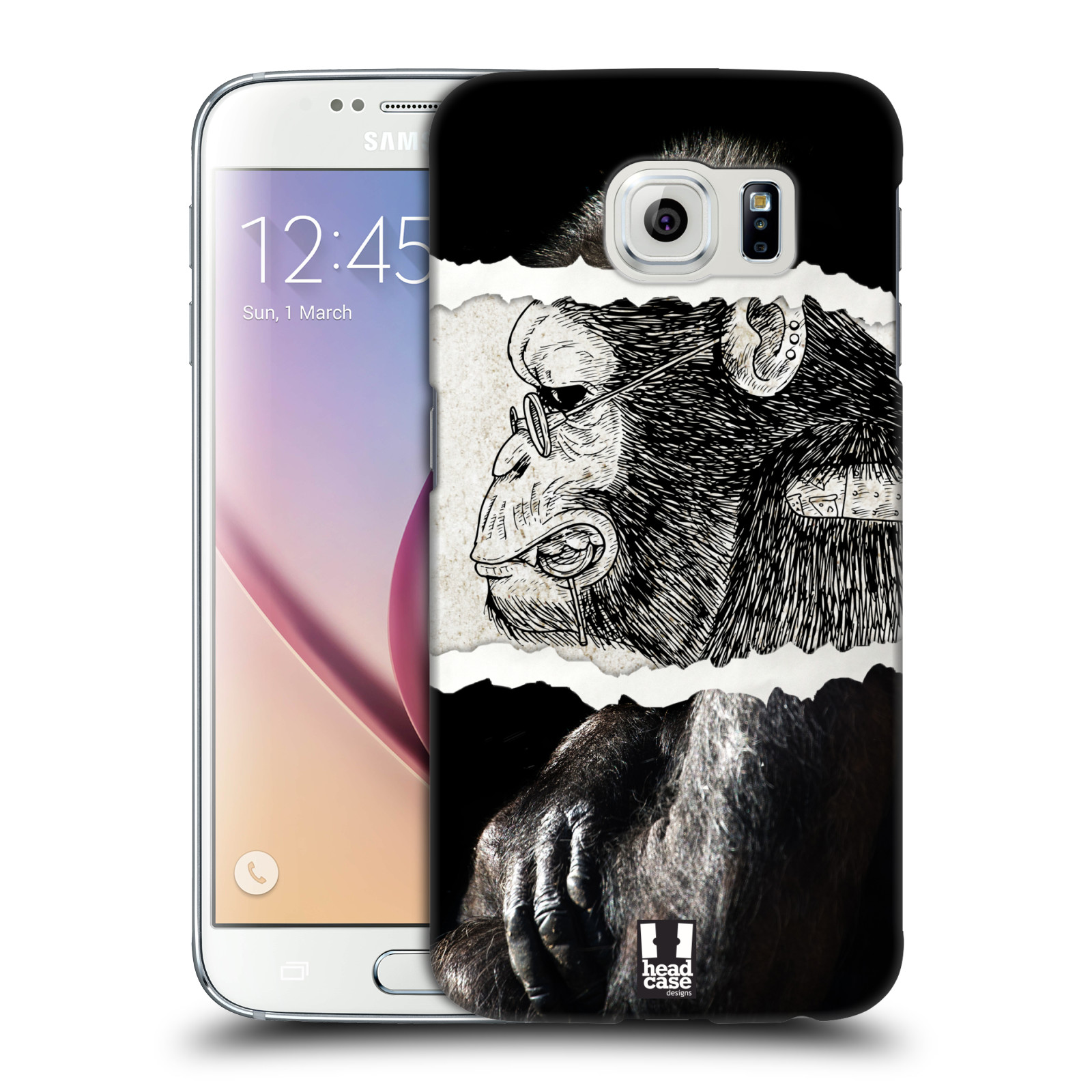 HEAD CASE plastový obal na mobil SAMSUNG Galaxy S6 (G9200, G920F) vzor zvířata koláž opice