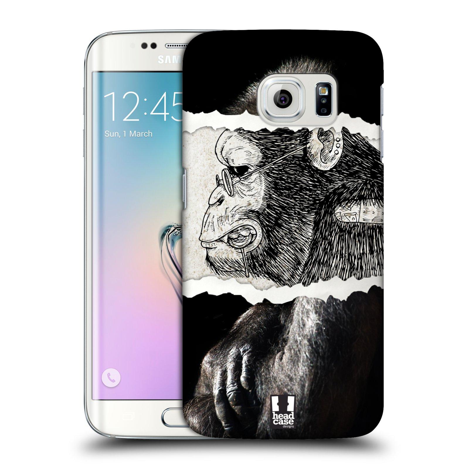 HEAD CASE plastový obal na mobil SAMSUNG Galaxy S6 EDGE (G9250, G925, G925F) vzor zvířata koláž opice