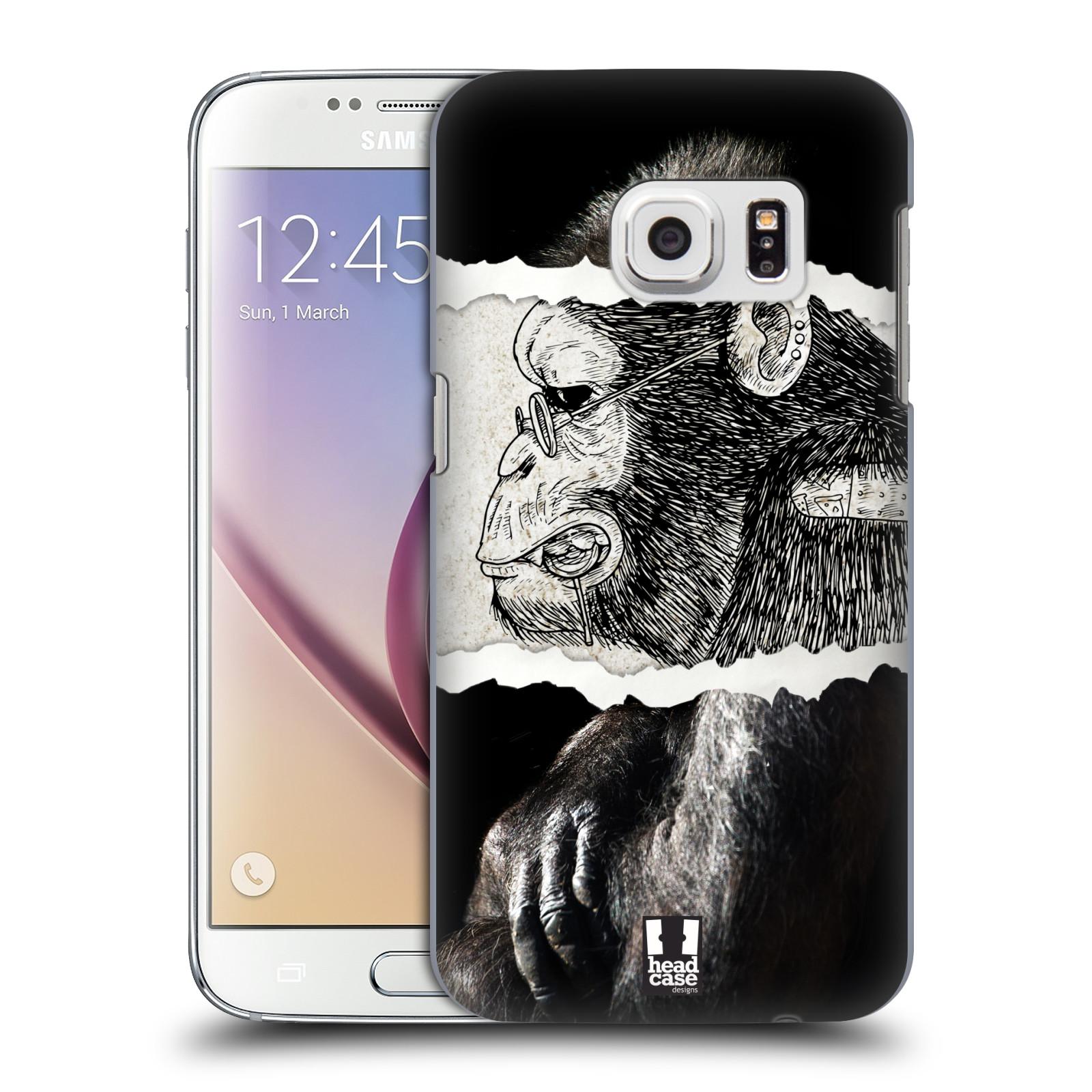 HEAD CASE plastový obal na mobil SAMSUNG GALAXY S7 vzor zvířata koláž opice