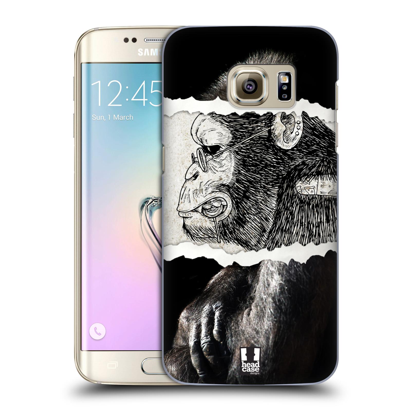 HEAD CASE plastový obal na mobil SAMSUNG GALAXY S7 EDGE vzor zvířata koláž opice