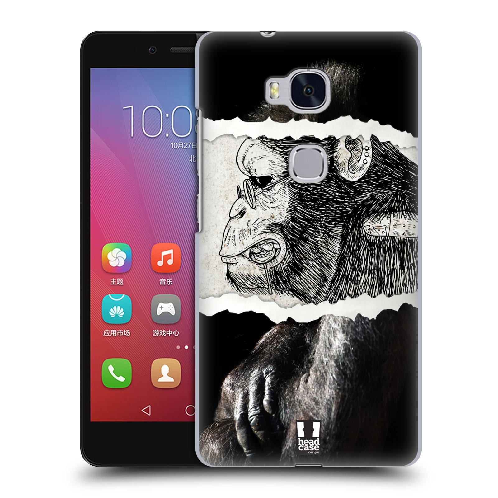 HEAD CASE pevný plastový obal na mobil HUAWEI HONOR 5X vzor zvířata koláž opice