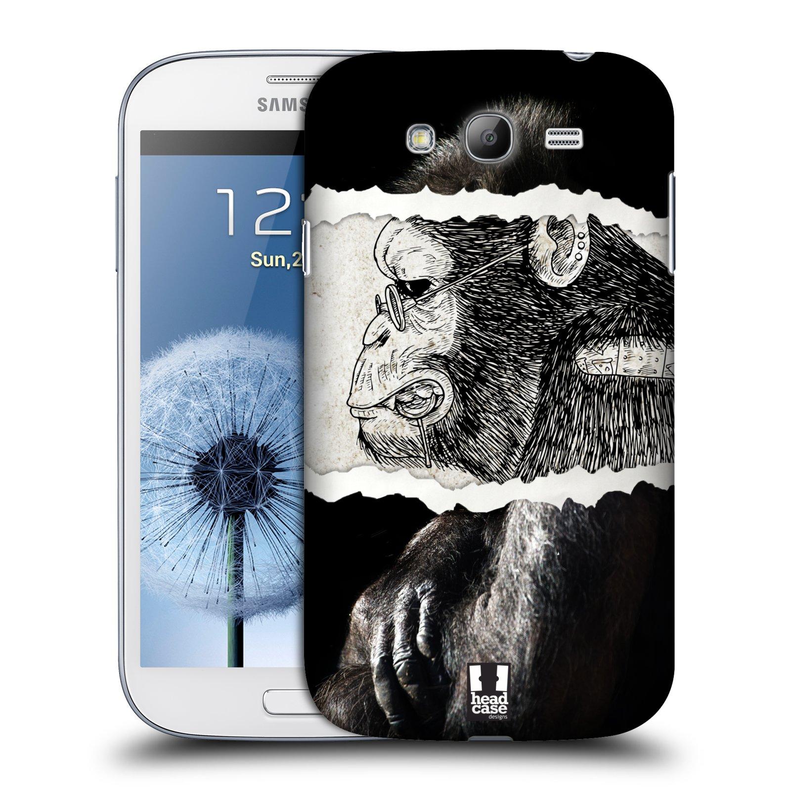 HEAD CASE plastový obal na mobil SAMSUNG GALAXY Grand i9080 vzor zvířata koláž opice