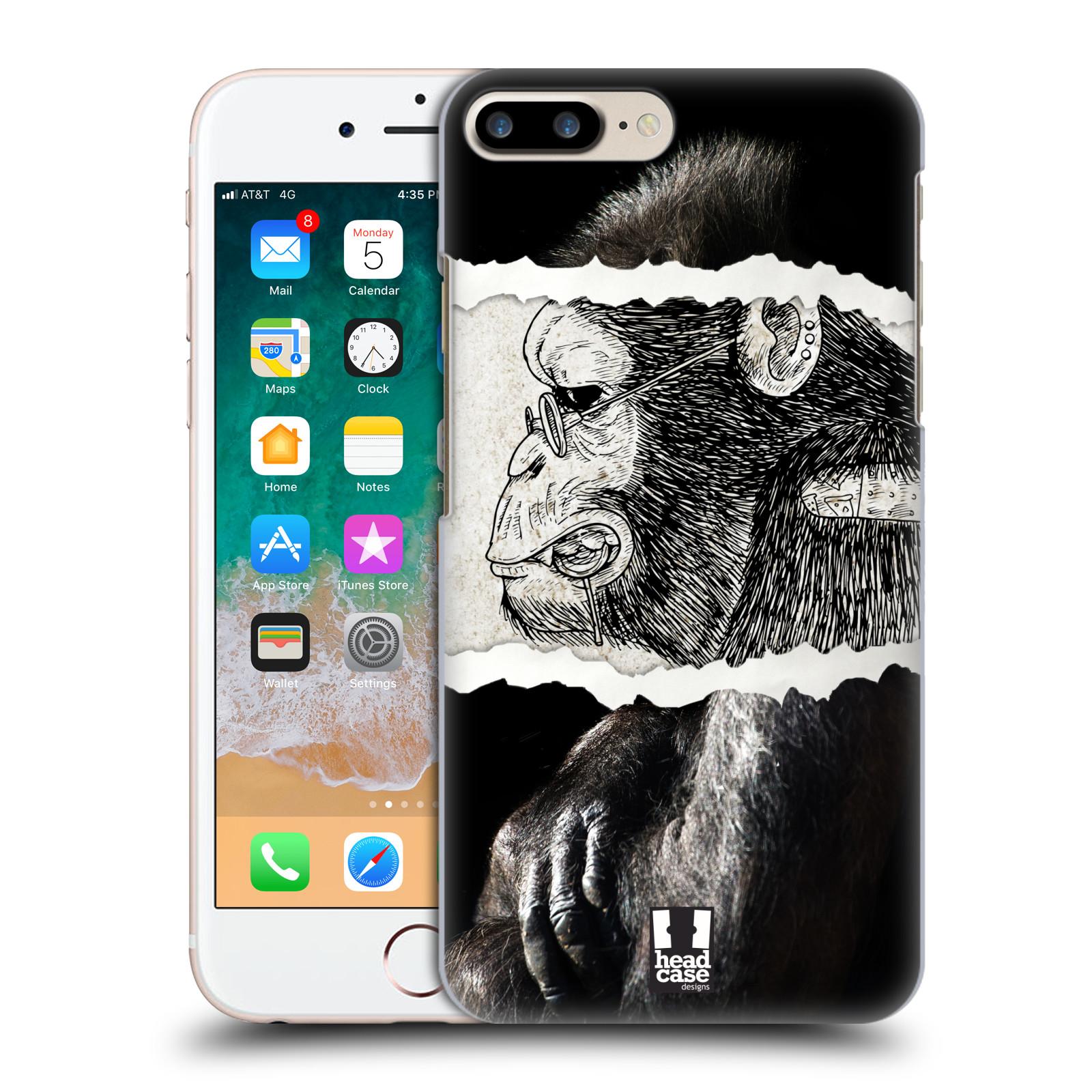 HEAD CASE plastový obal na mobil Apple Iphone 7 PLUS vzor zvířata koláž opice