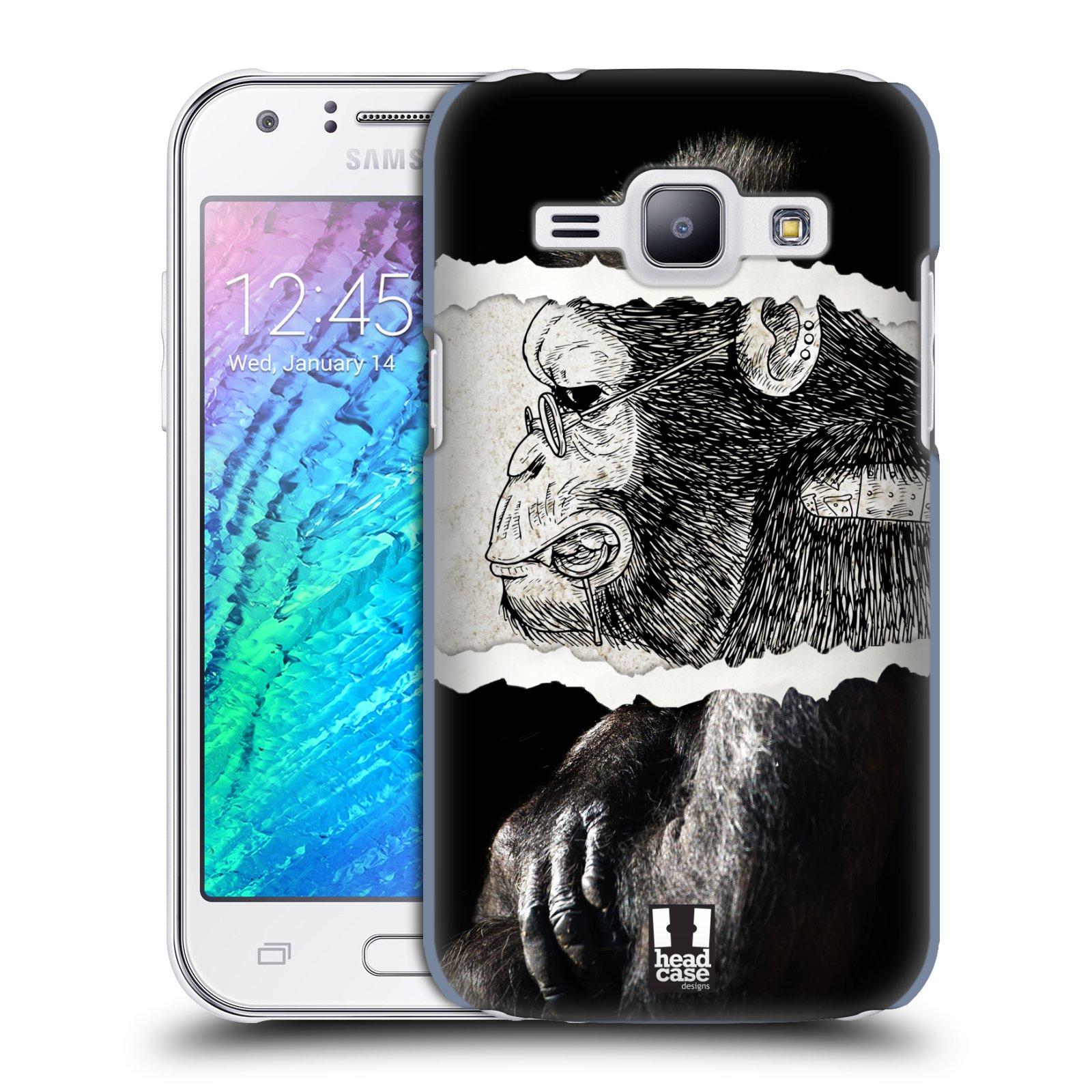 HEAD CASE plastový obal na mobil SAMSUNG Galaxy J1, J100 vzor zvířata koláž opice