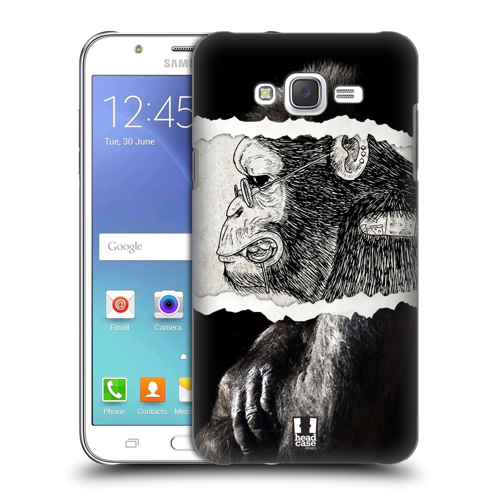 HEAD CASE plastový obal na mobil SAMSUNG Galaxy J7, J700 vzor zvířata koláž opice