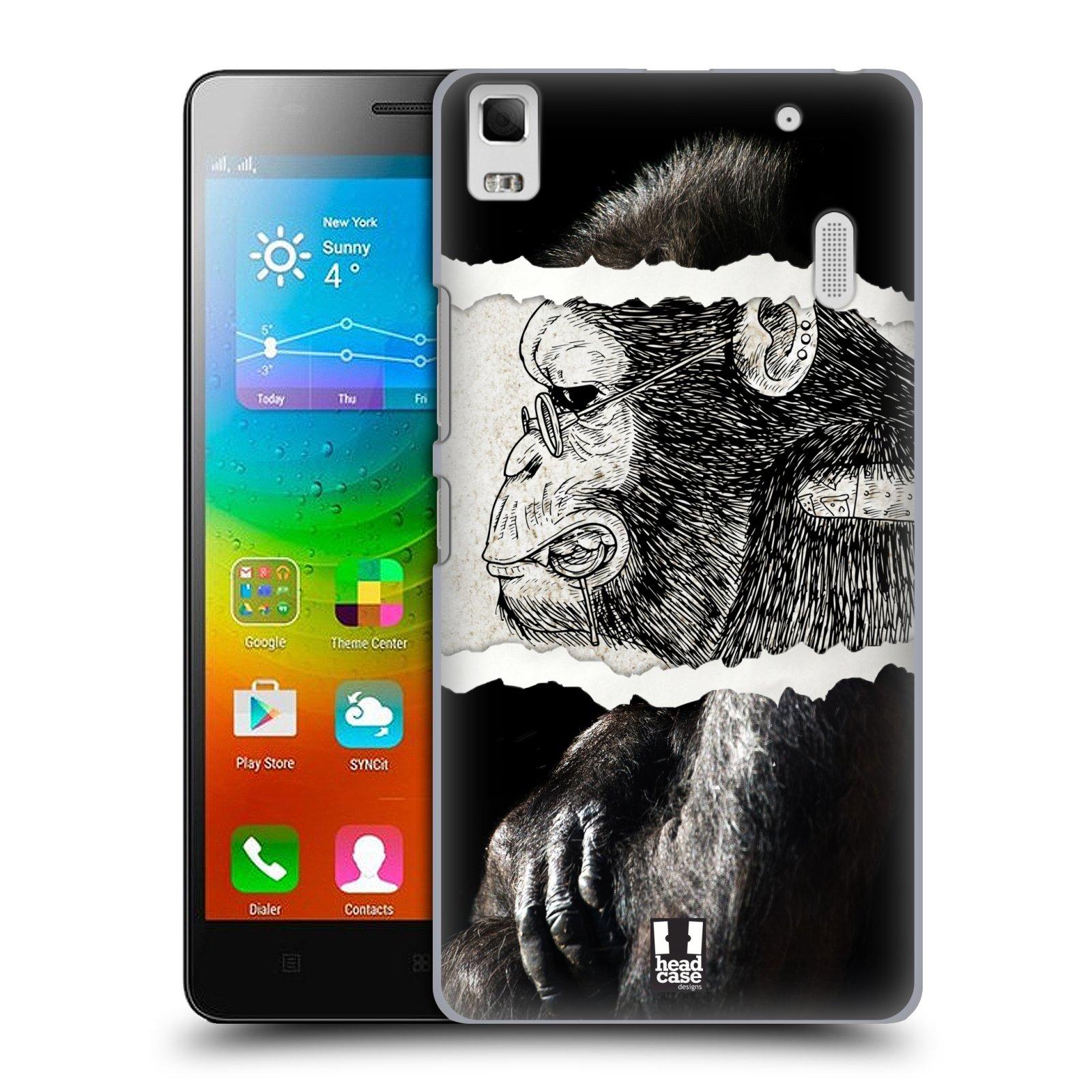 HEAD CASE pevný plastový obal na mobil LENOVO A7000 / A7000 DUAL / K3 NOTE vzor zvířata koláž opice