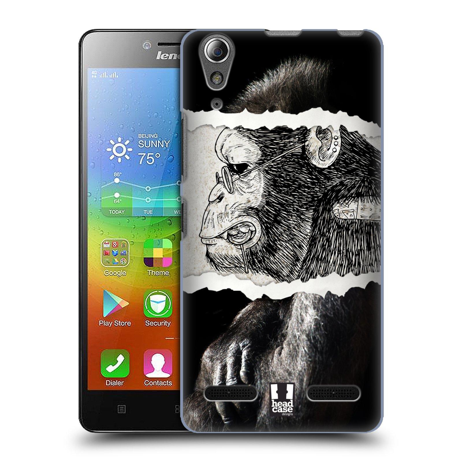 HEAD CASE pevný plastový obal na mobil LENOVO A6000 / A6000 PLUS vzor zvířata koláž opice
