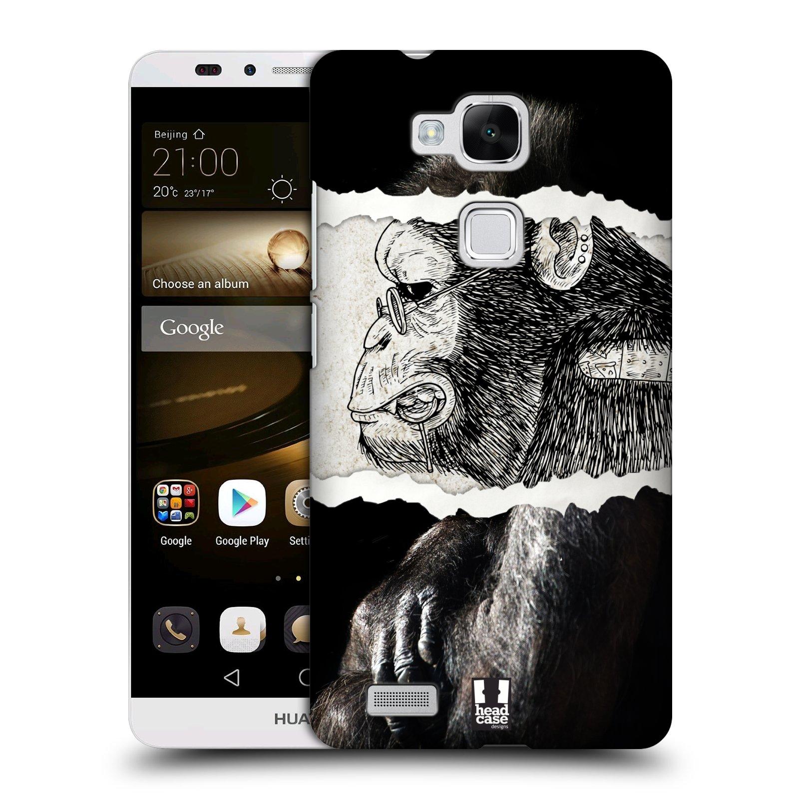 HEAD CASE plastový obal na mobil Huawei Mate 7 vzor zvířata koláž opice