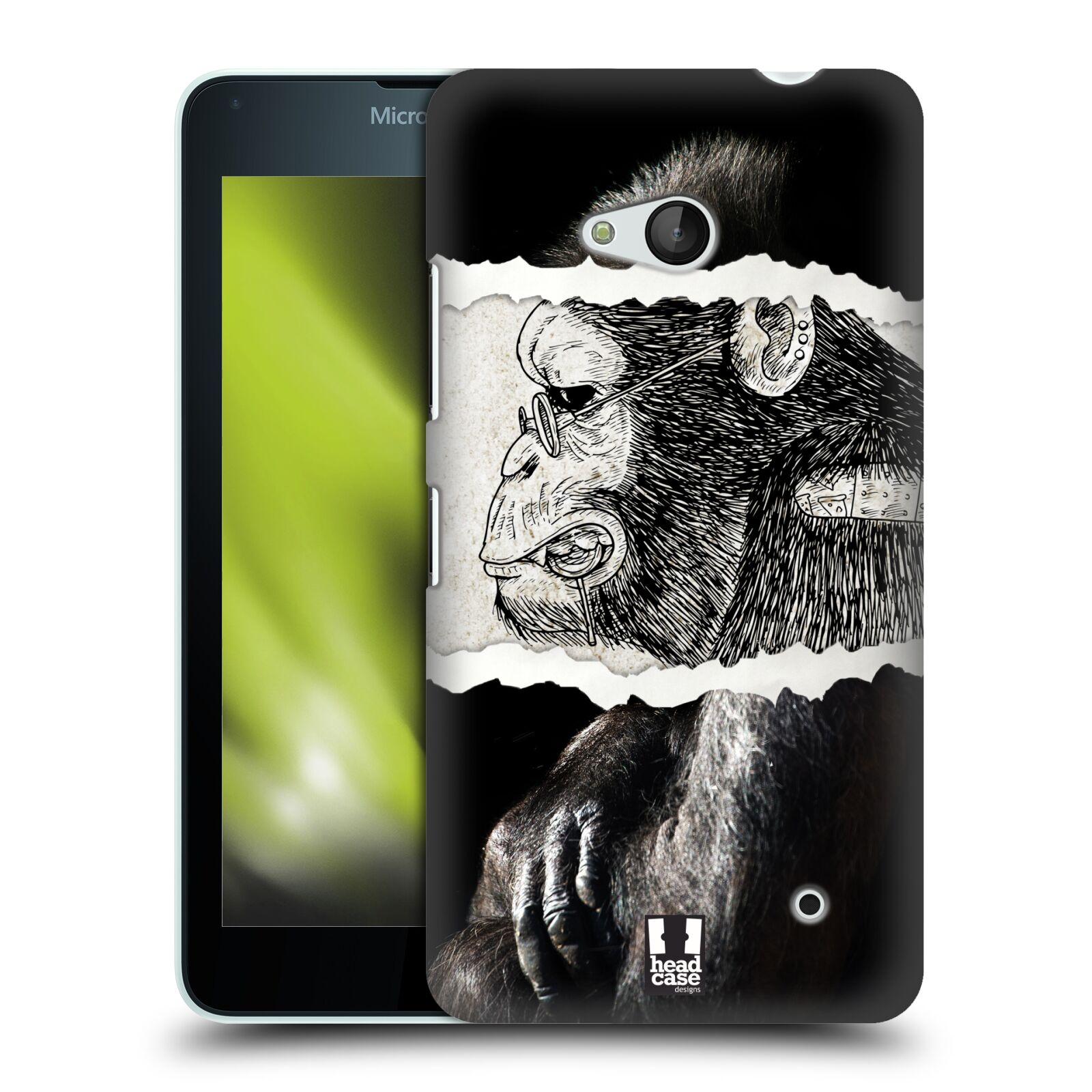 HEAD CASE plastový obal na mobil Nokia Lumia 640 vzor zvířata koláž opice